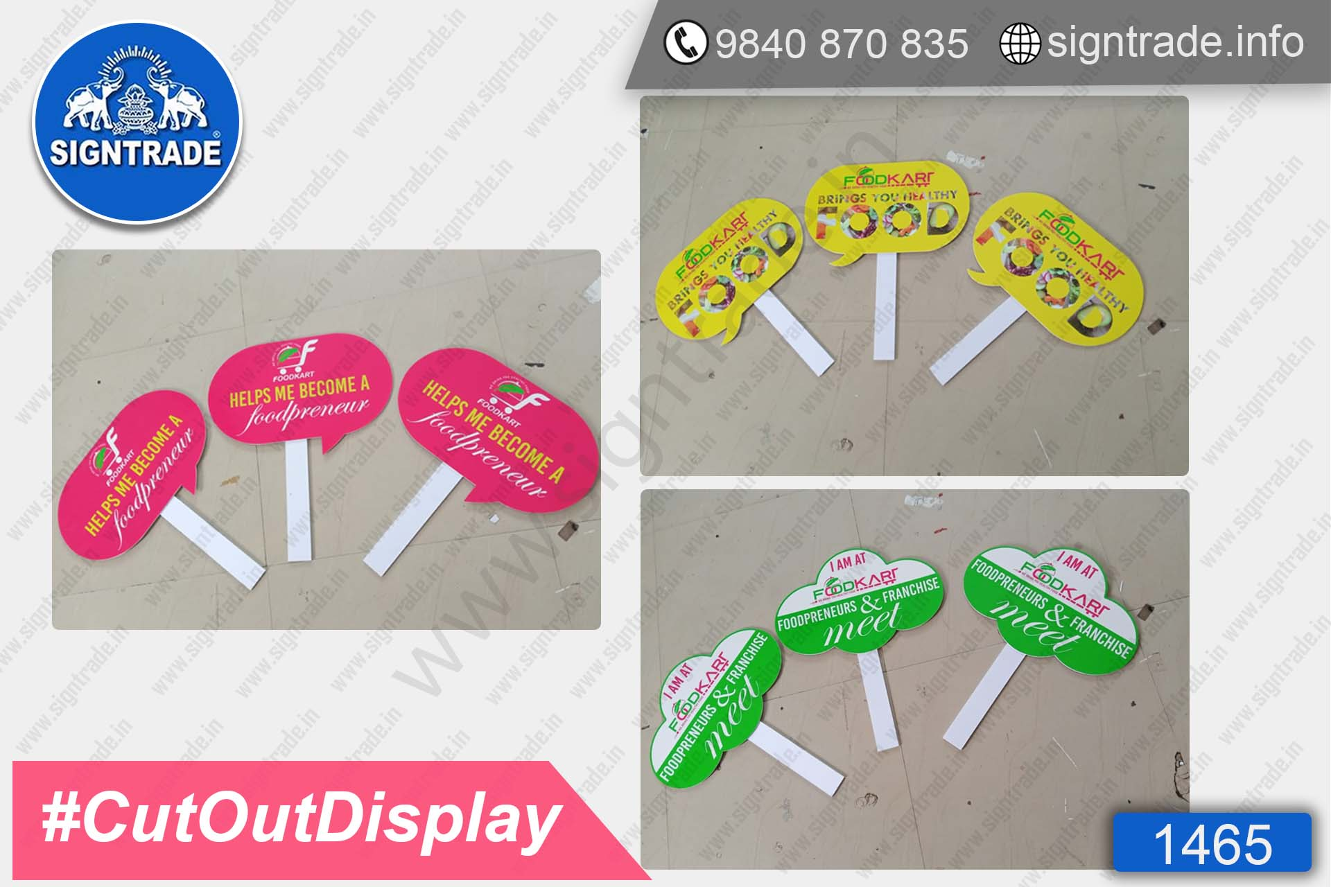 Food Kart - Foam Board - Cotout Display