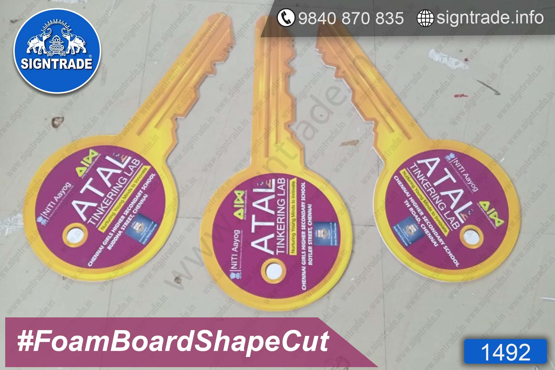 1492, Atal Tinkering Lab - Chennai - SIGNTRADE - Foam Board Shape Cut, Foam Board Promotional Cutout Display Stand Manufacturers in Chennai