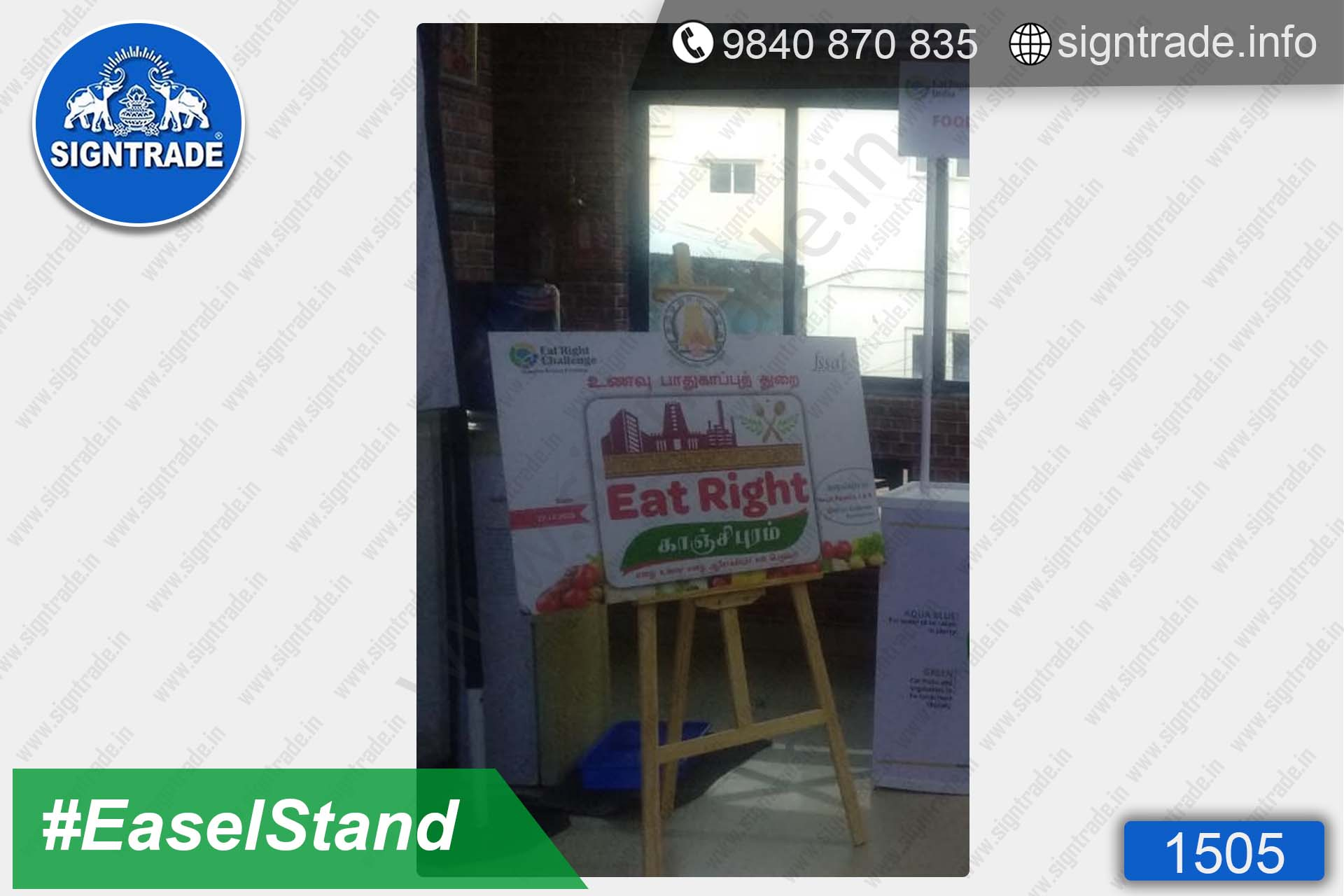Food Safety Department, Kancheepuram District, Chennai - Easel Stand, Chennai - SIGNTRADE - Promotional Easel Stand Manufacturers in Chennai