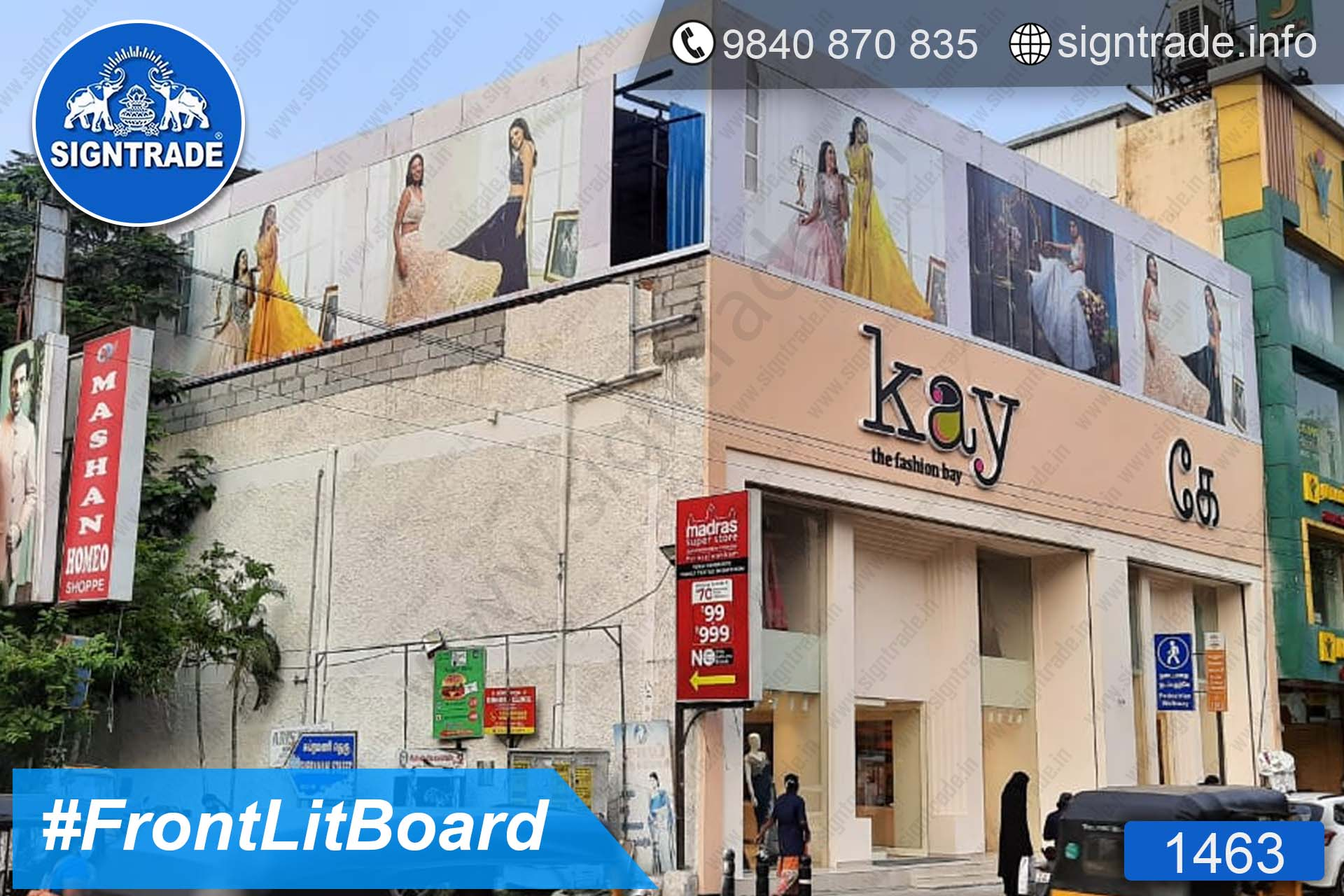 kay the fashion bay - 1463, Flex Board, Frontlit Flex Board, Star Frontlit Flex Board, Frontlit Flex Banners, Shop Front Flex Board, Shop Flex Board, Star Flex