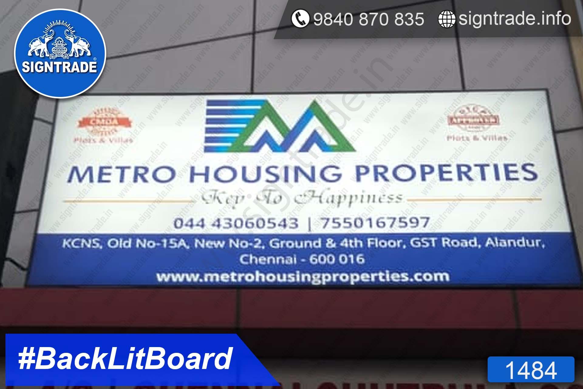 Metro Housing Properties - Alandur - Chennai - SIGNTRADE - Digital Printing Service, BackLit Flex Board Manufacturers in Chennai