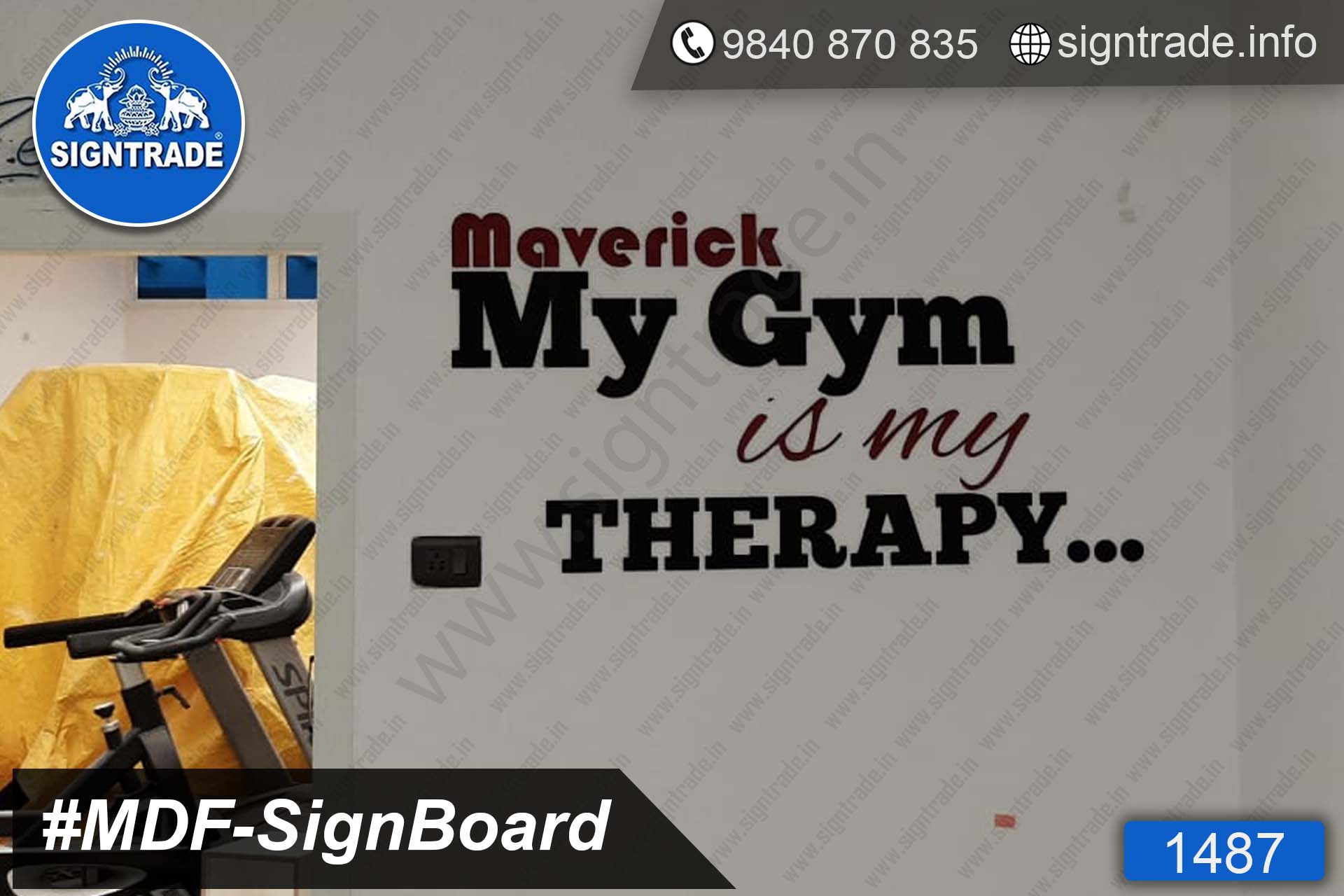 MDF Letter Board, MDF Sign Board - SIGNTRADE - Laser Cutting Service in Chennai