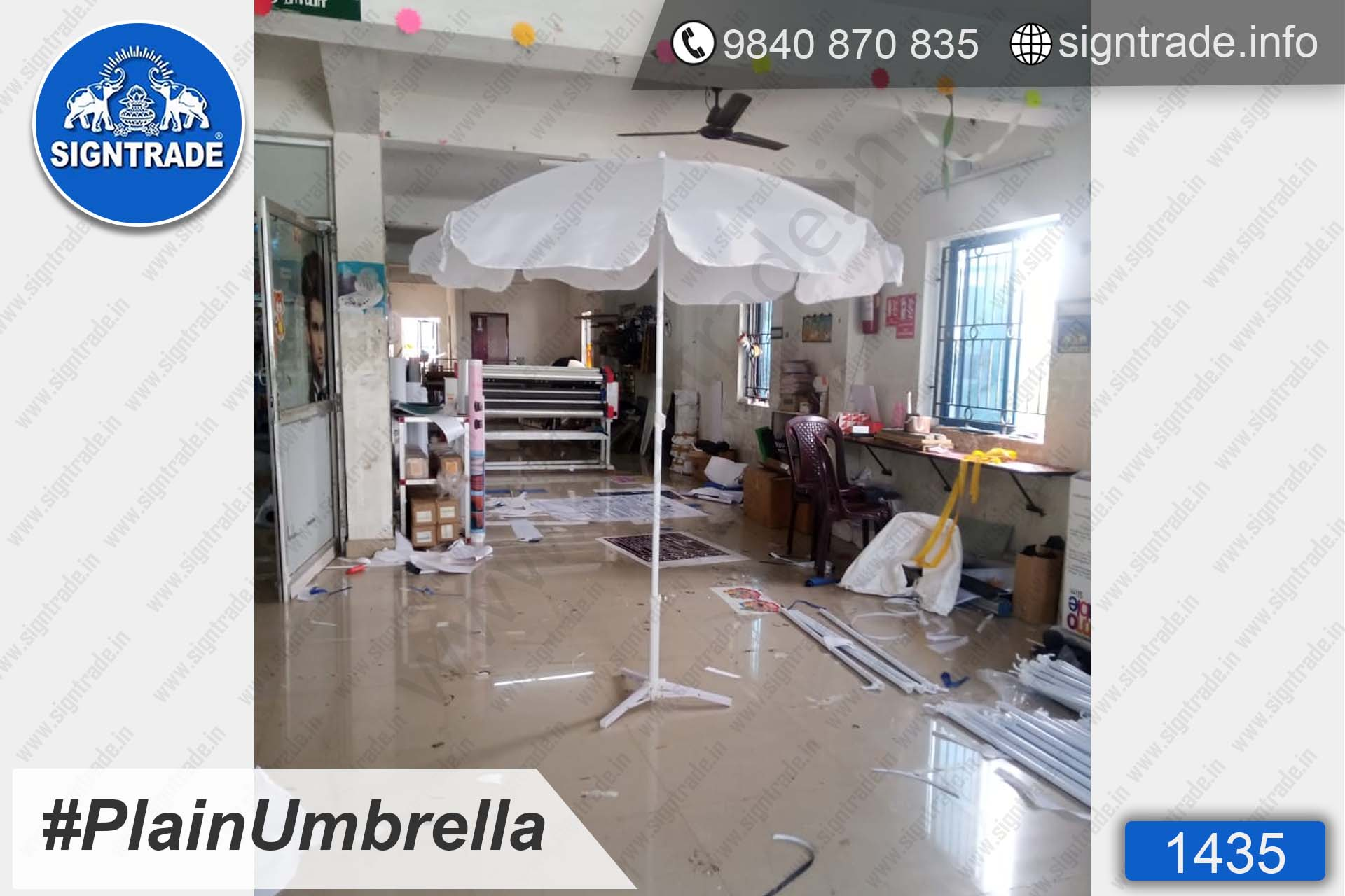 1435, Promotional Umbrella, Umbrella, Promo Umbrella, Advertising Umbrella, Big Umbrella, Large Umbrella, Printed Umbrella, Plain Umbrella, White Umbrella