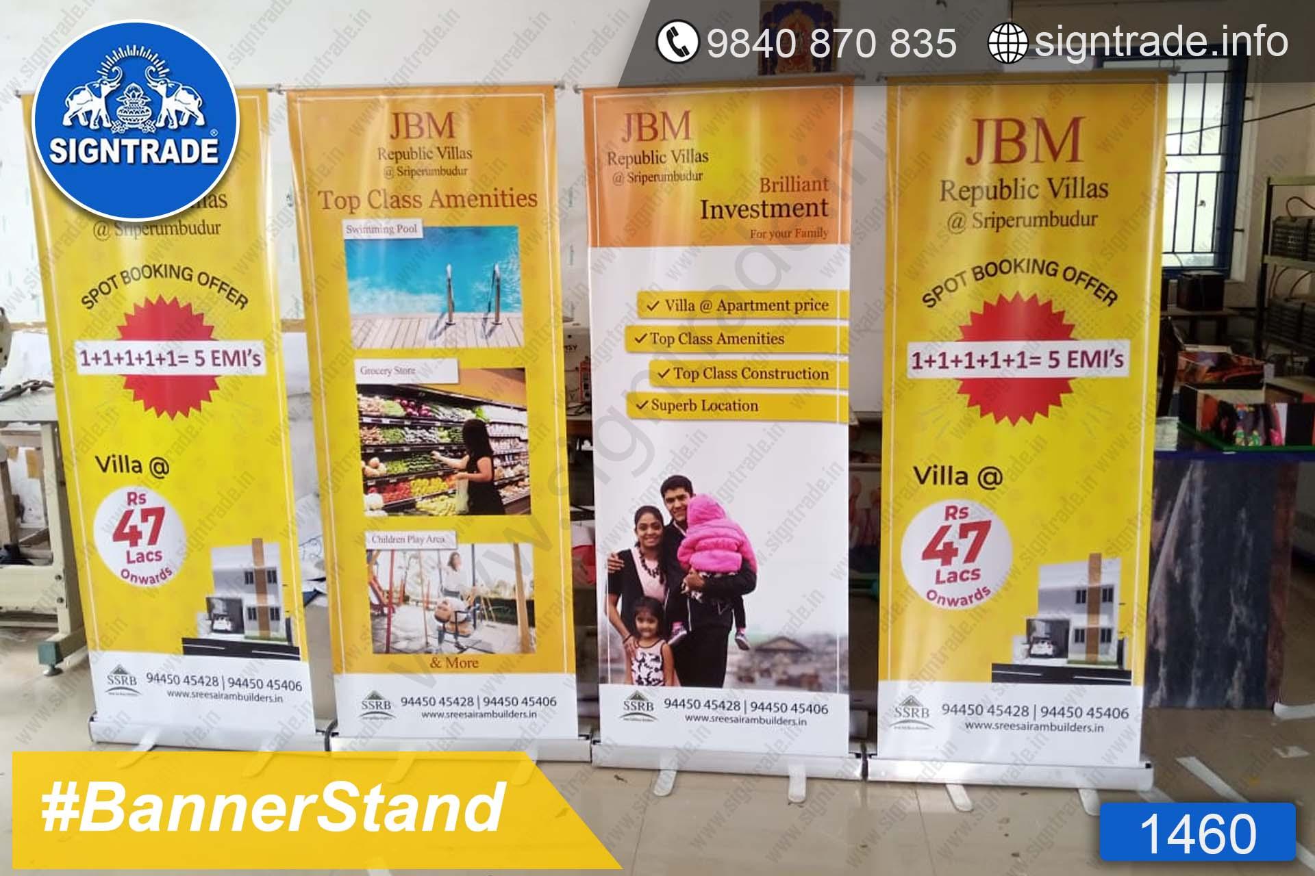 JBM Republic Villas - 1460 - Retractable Banner, Roll Up Banner Stand, Banner Stand, Roll Up Banner, Standee, Promotional Standee, Promotional Roll Up Standee, Promo Standee