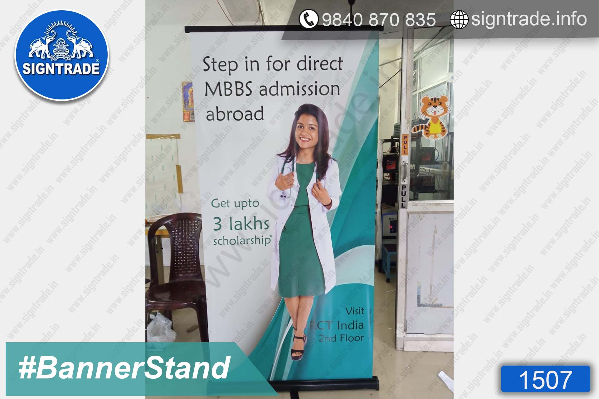 MBBS Admission Abroad, Chennai - SIGNTRADE - Digital Printing Services - Roll Up Banner Stand Manufacturer in Chennai