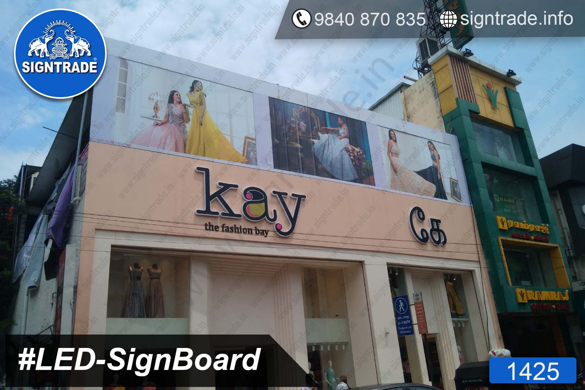 Kay The Fashion Bay - 1425, LED Sign Board, Sign Board, Acrylic Sign Board, Glow Sign Board, Custom Sign Board
