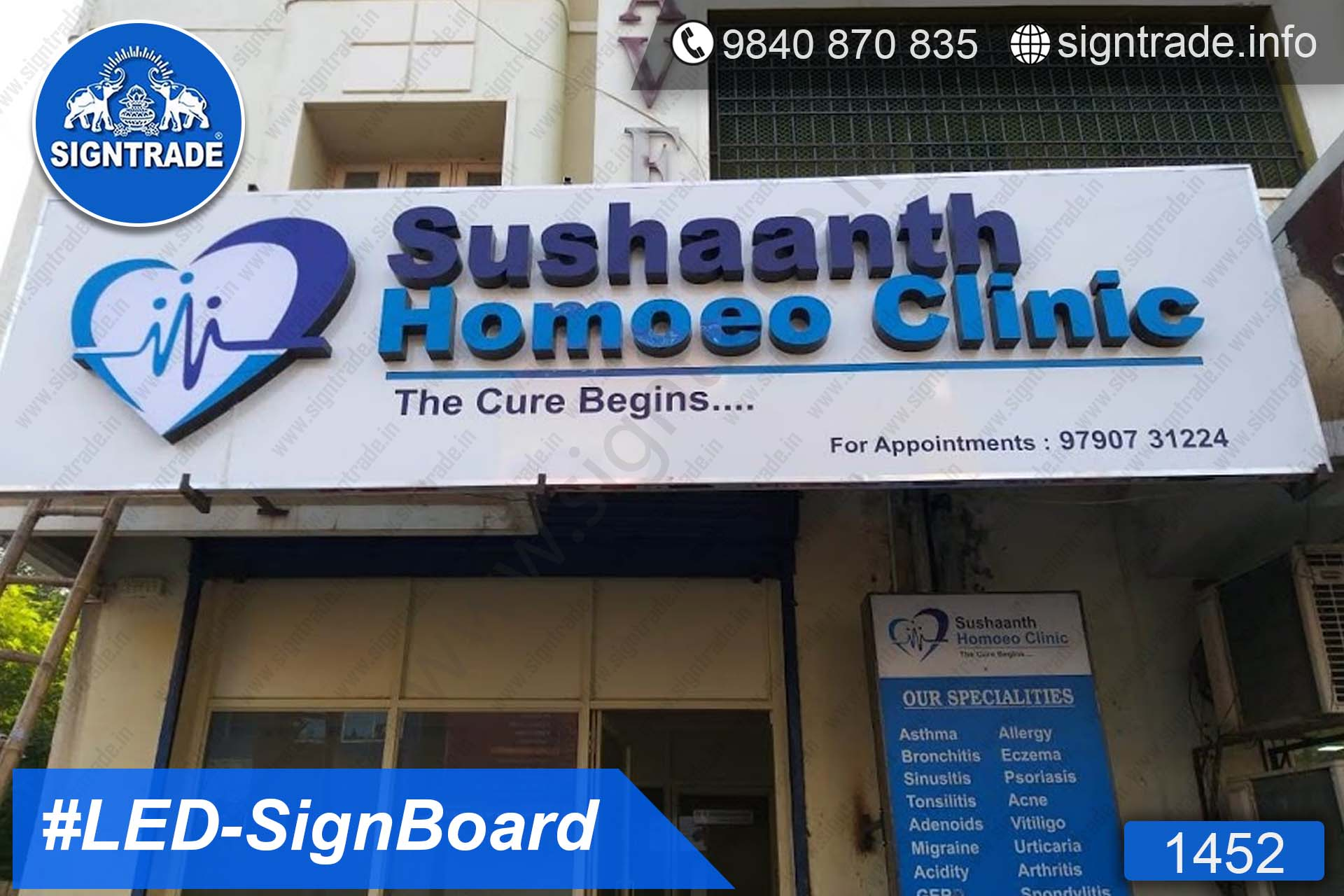 1452, LED Sign Board, Sign Board, Acrylic Sign Board, Glow Sign Board, Custom Sign Board - AL Arabian Delights - Sushaanth Homoeo Clinic