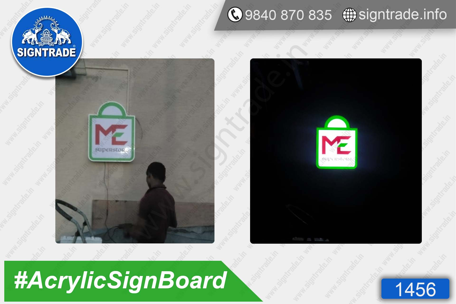 ME Superstore - Acrylic Sign Board