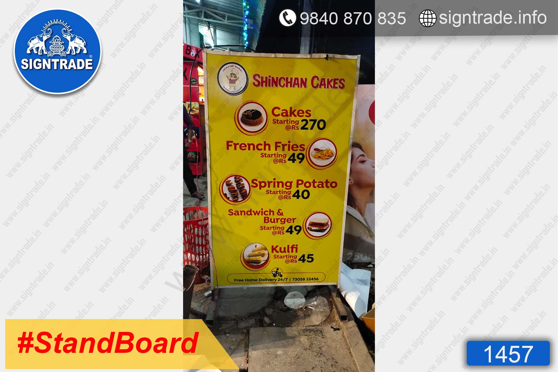 Shinchan Cakes stand board