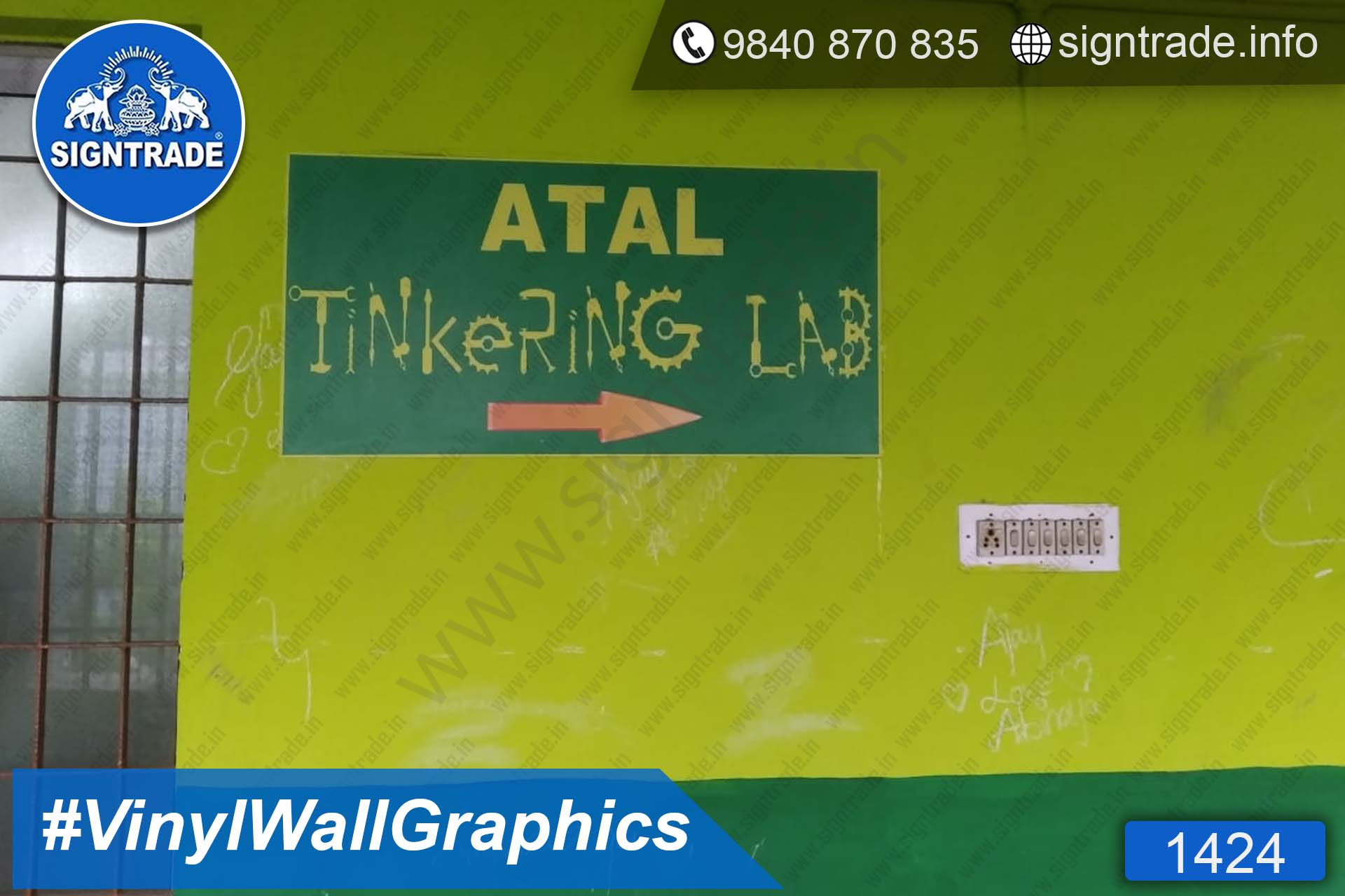 Atal Tinkering Lab (1 of 19) Images - 1424, Vinyl Graphics, Wall Graphics, Wall Wrapping, wall stickers, wall Wraps, Wall Branding, Wall Branding on foam board