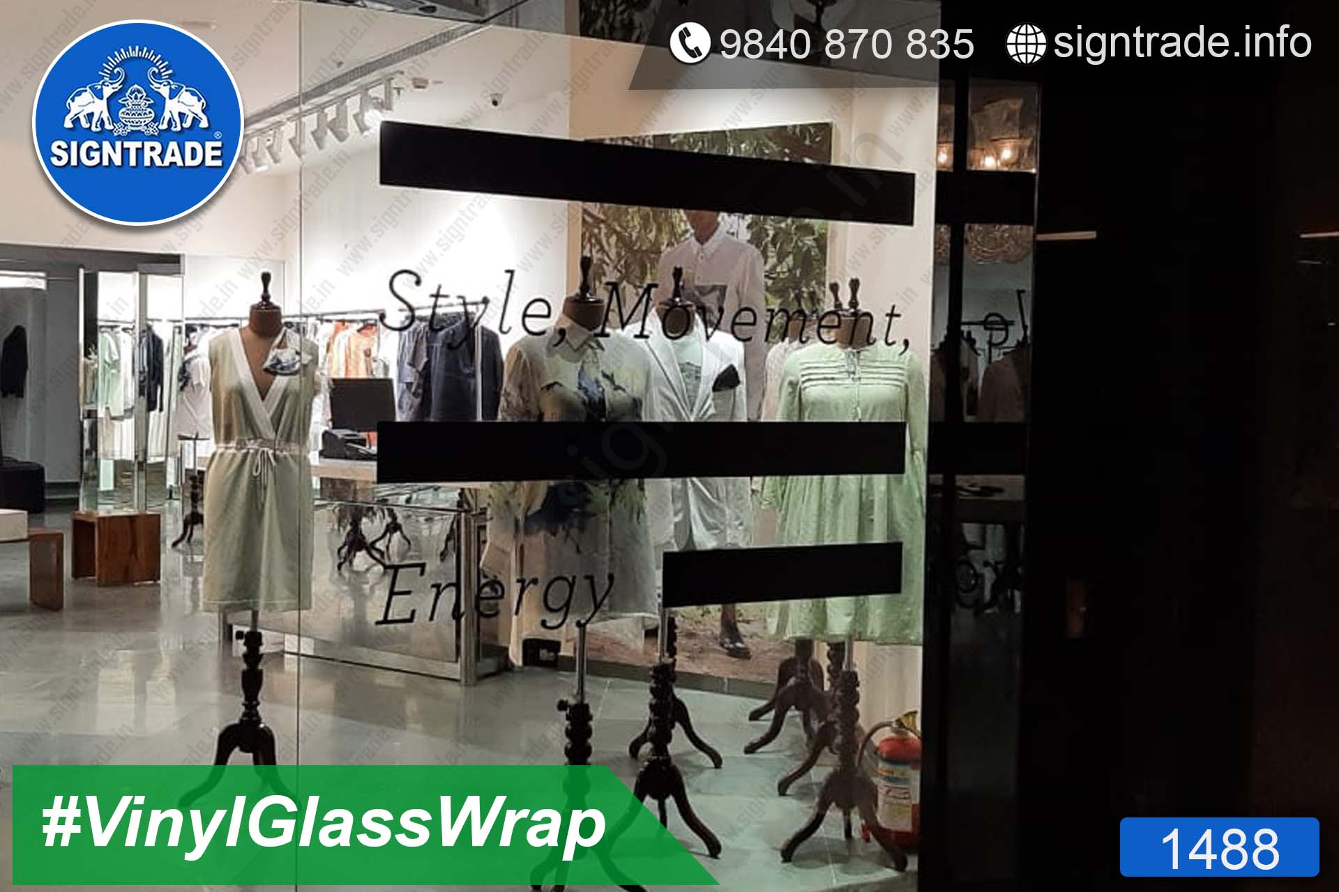 Vinyl Wrapping On Glass Doors - SIGNTRADE - Vinyl Printing Service in Chennai