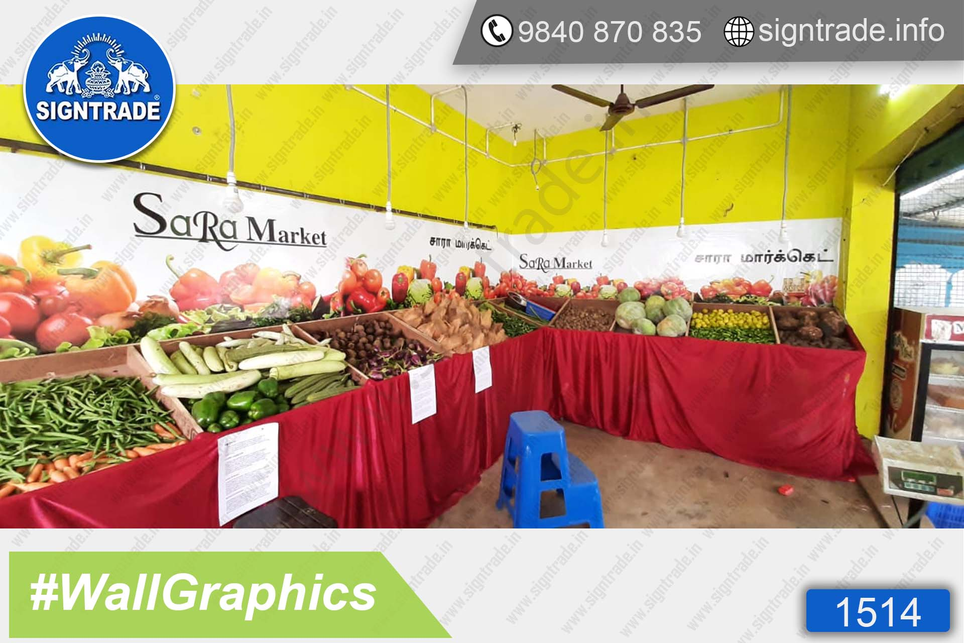 Sara Market, Madambakkam, Chennai - SIGNTRADE - Wall Graphics - Vinyl Graphics on Wall - Digital Printing Services in Chennai