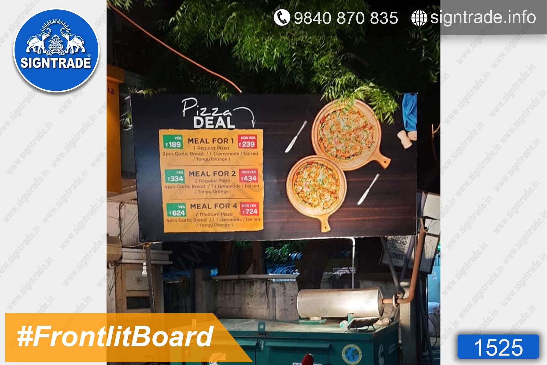 Pizza Deal, Chennai - SIGNTRADE - Digital Printing Service - Frontlit Flex Board Board Manufacturer in Chennai