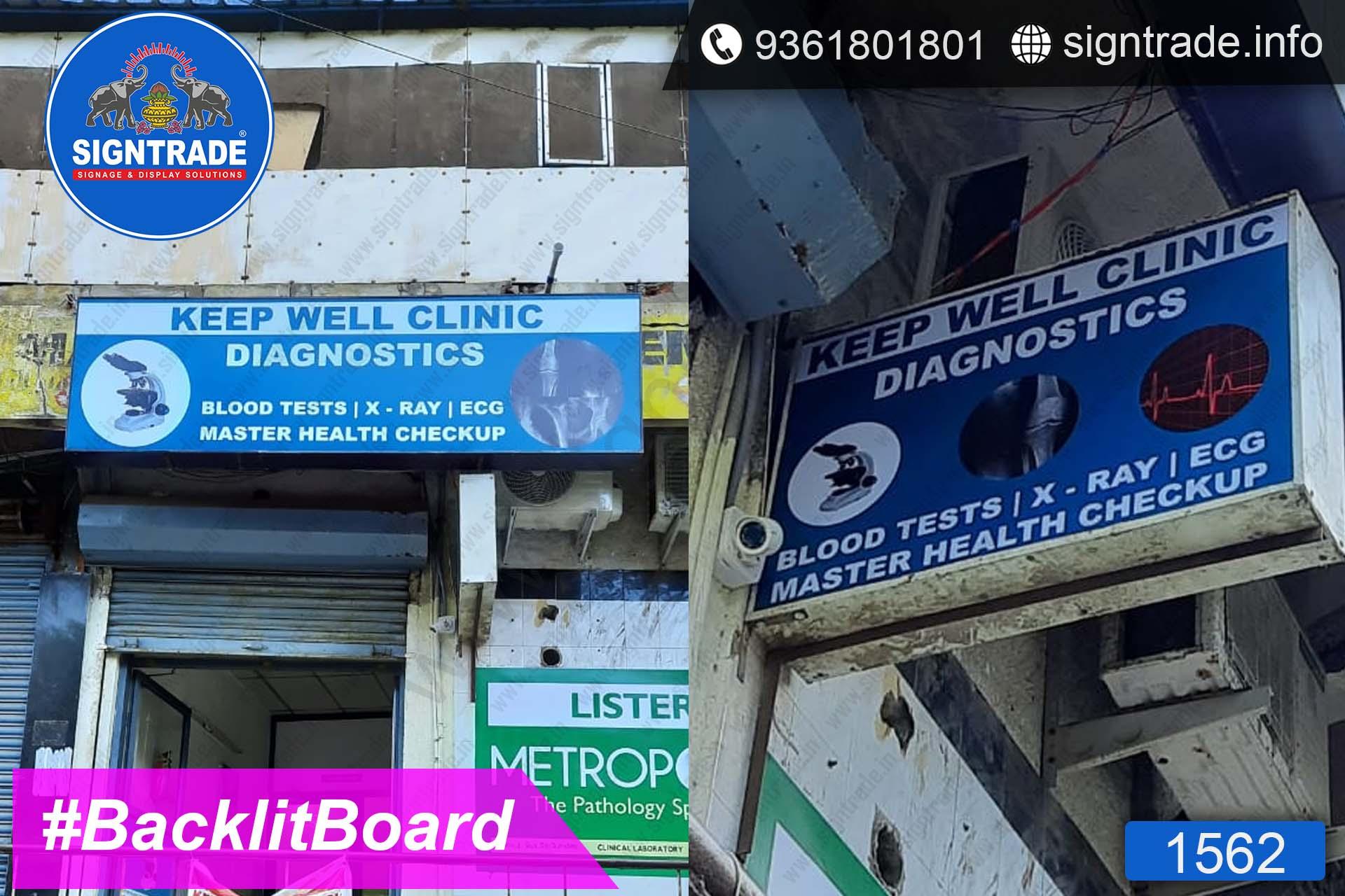 KEEP WELL CLINIC, Purasaiwakkam, Chennai - SIGNTRADE - Digital Flex Printing Service - Backlit Flex Board Manufacturers in Chennai