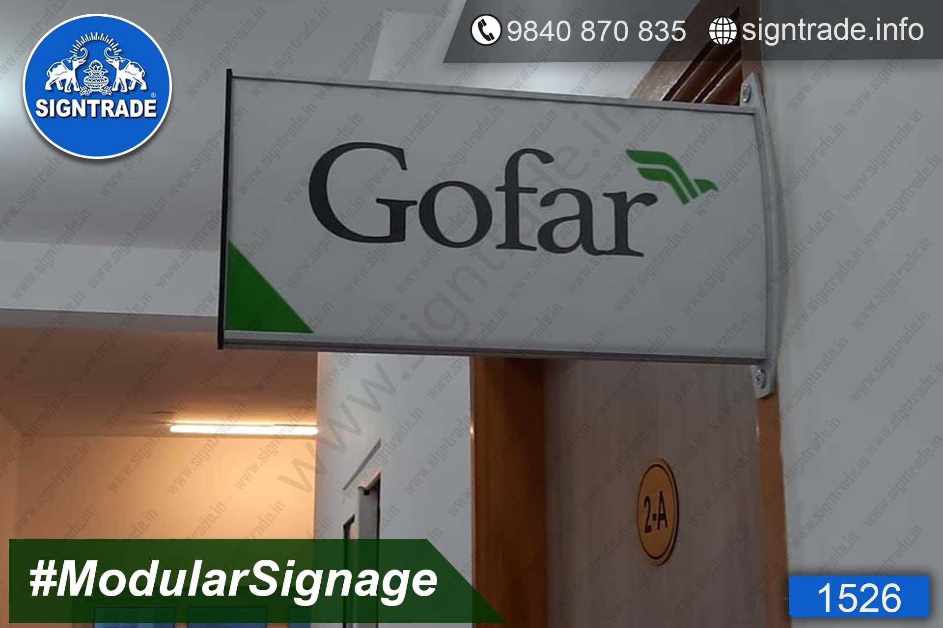 gofar modular signage