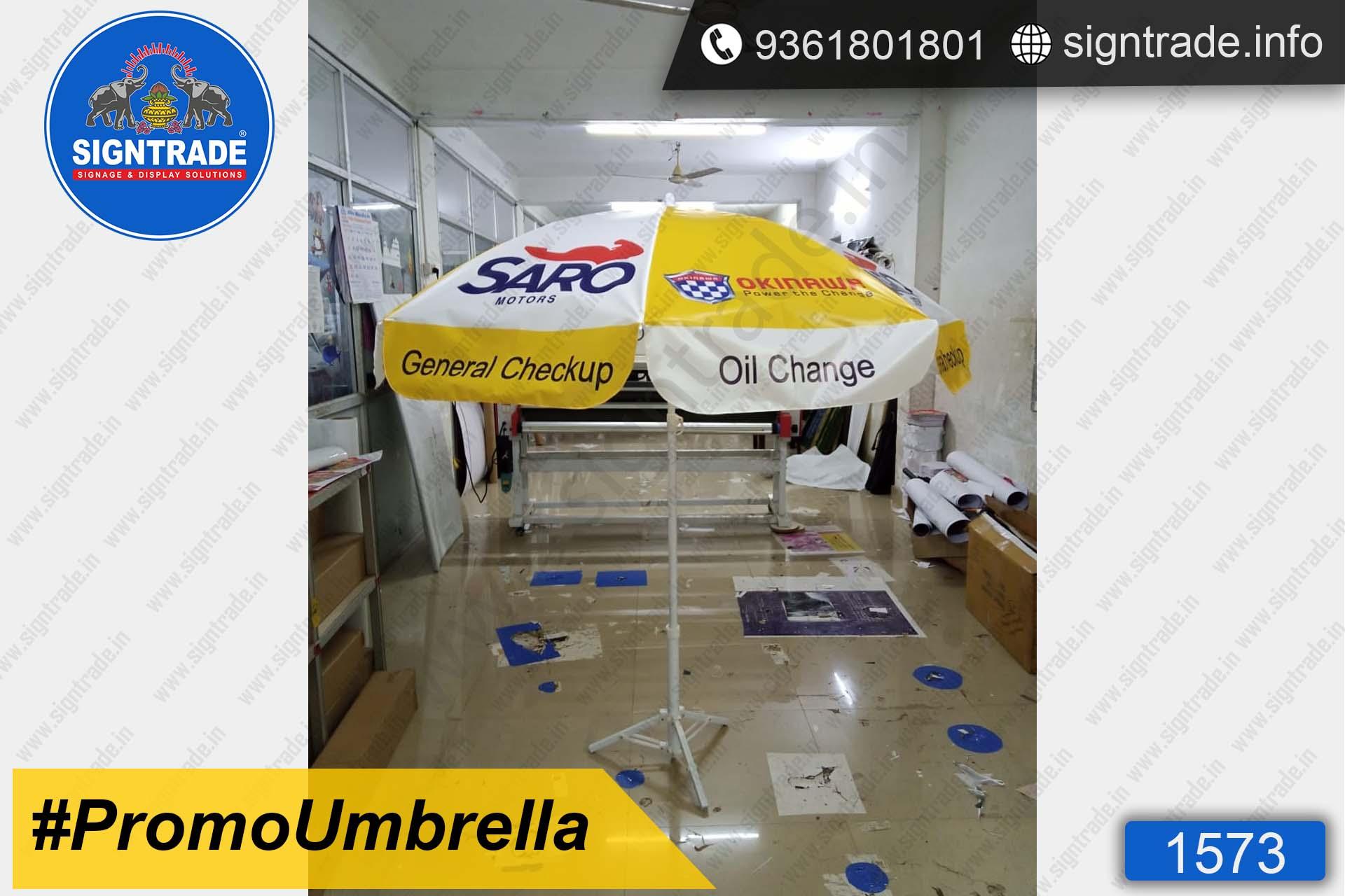 Saro Motors, Jayankondam - SIGNTRADE - Promotional Umbrella Manufactures in Chennai