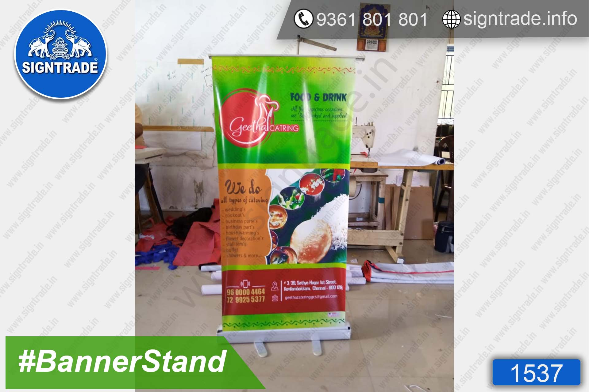 Geetha Catering Service - Chennai - SIGNTRADE - Roll Up Banner Stand Manufacturers in Chennai
