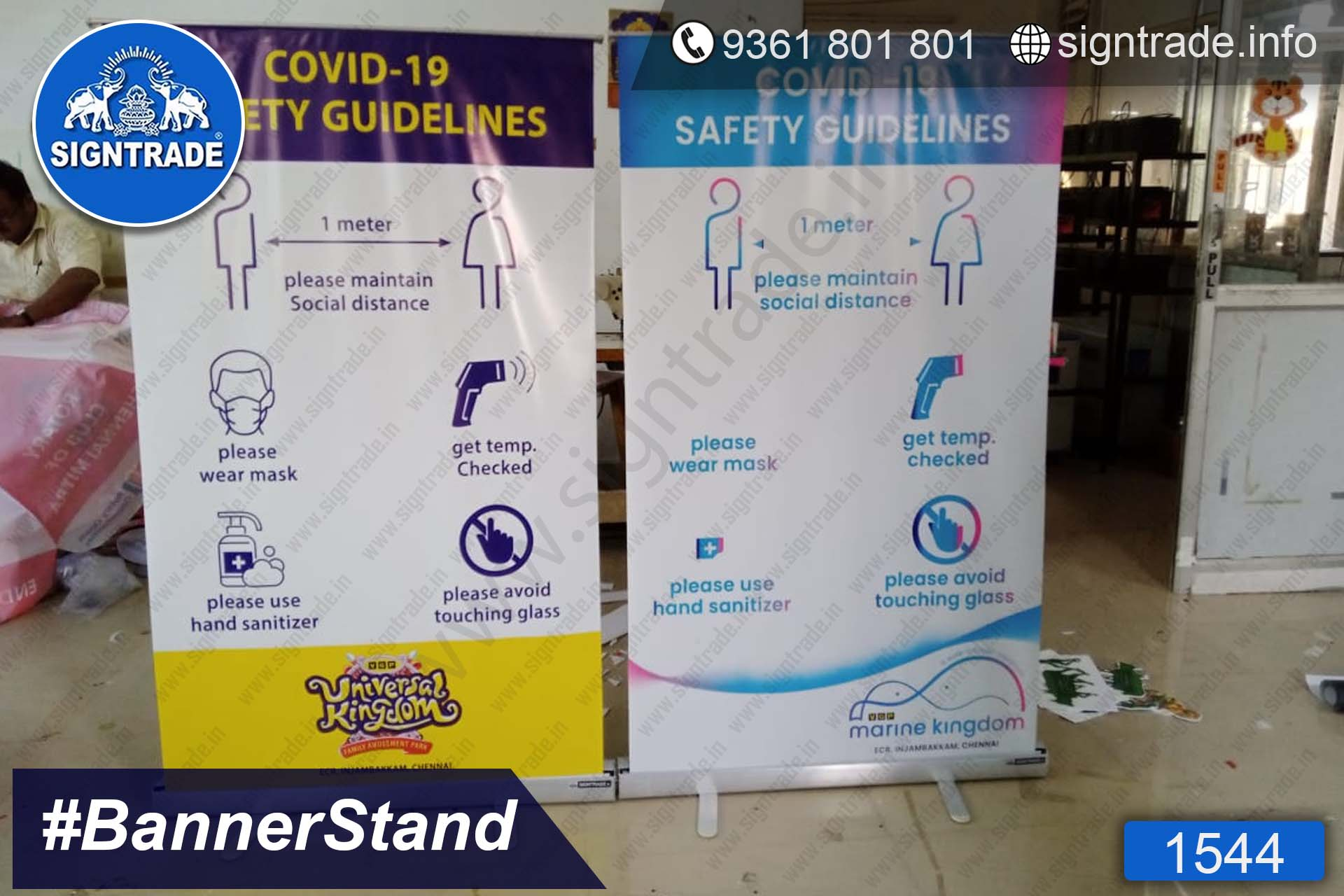 VGP Universal Kingdom - Chennai - SIGNTRADE - Roll Up Banner Stand Manufacturers in Chennai