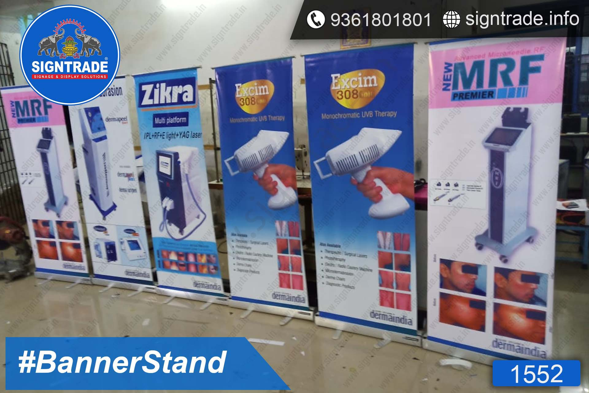Dermaindia - SIGNTRADE - Roll Up Banner Stand Manufacturers in Chennai