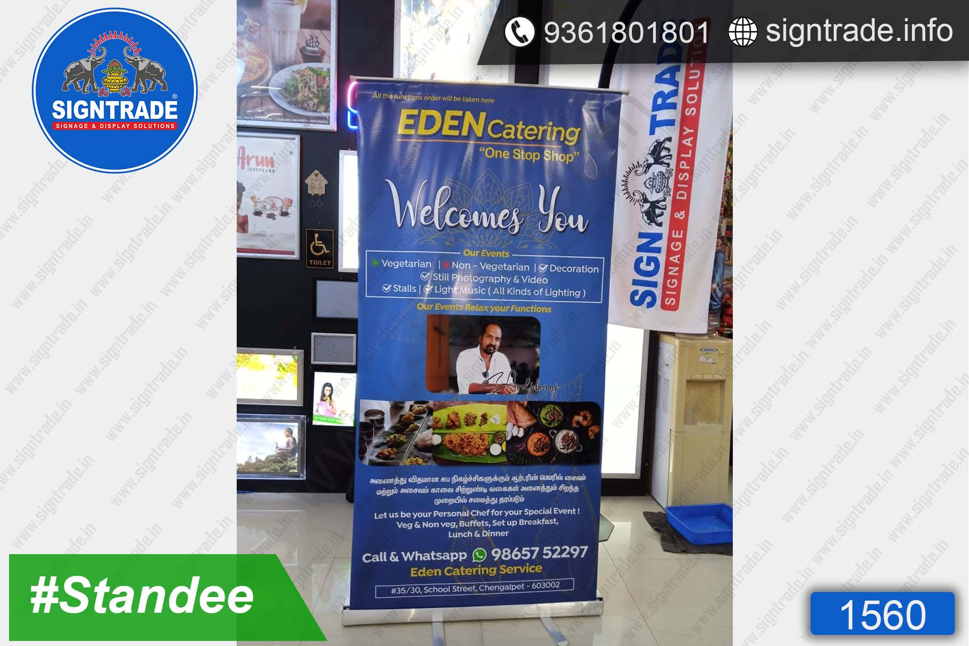 EDEN Catering - SIGNTRADE - Roll Up Banner Stand Manufacturers in Chennai