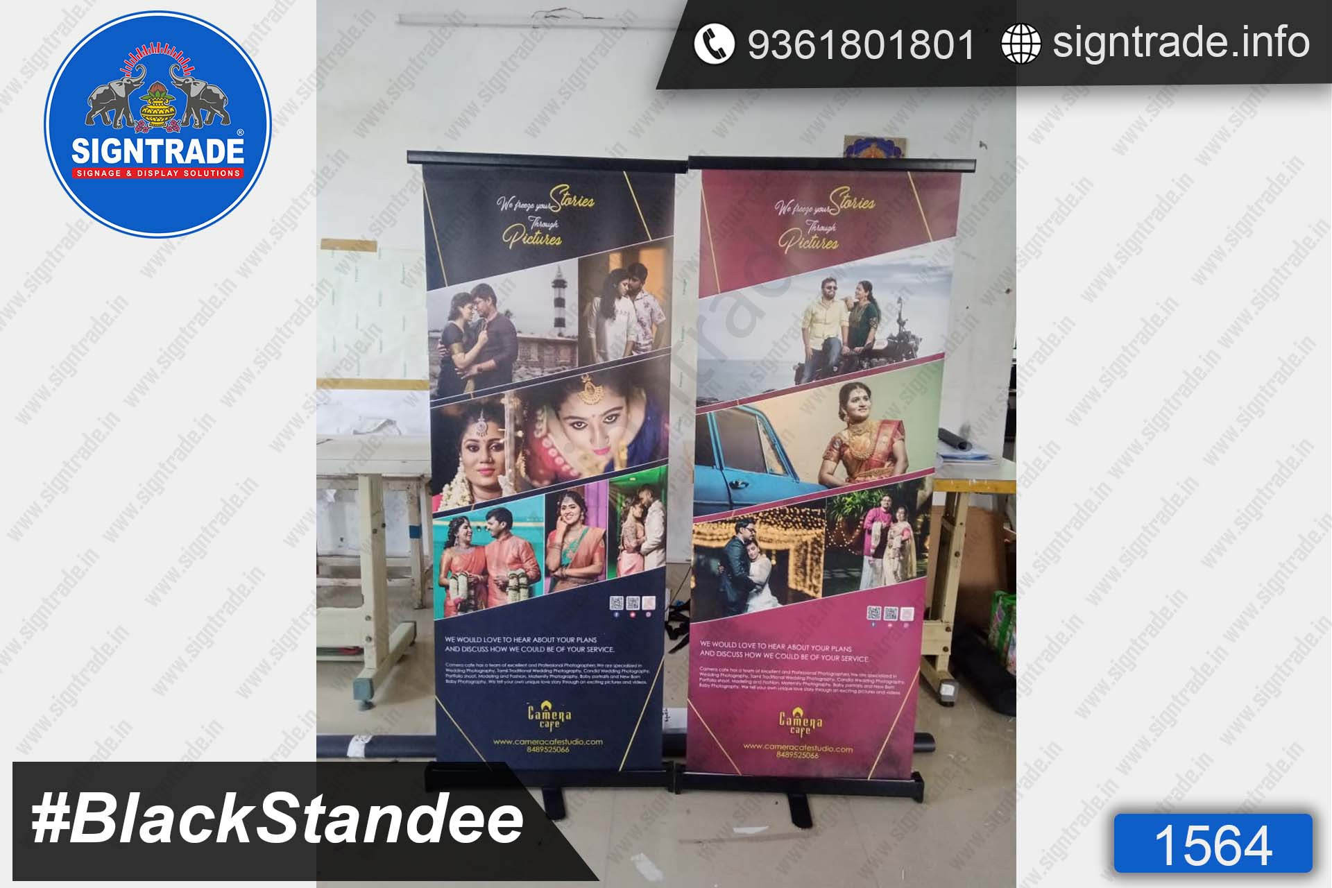 Camera Cafe Studio - SIGNTRADE - Roll Up Banner Stand Manufacturers in Chennai