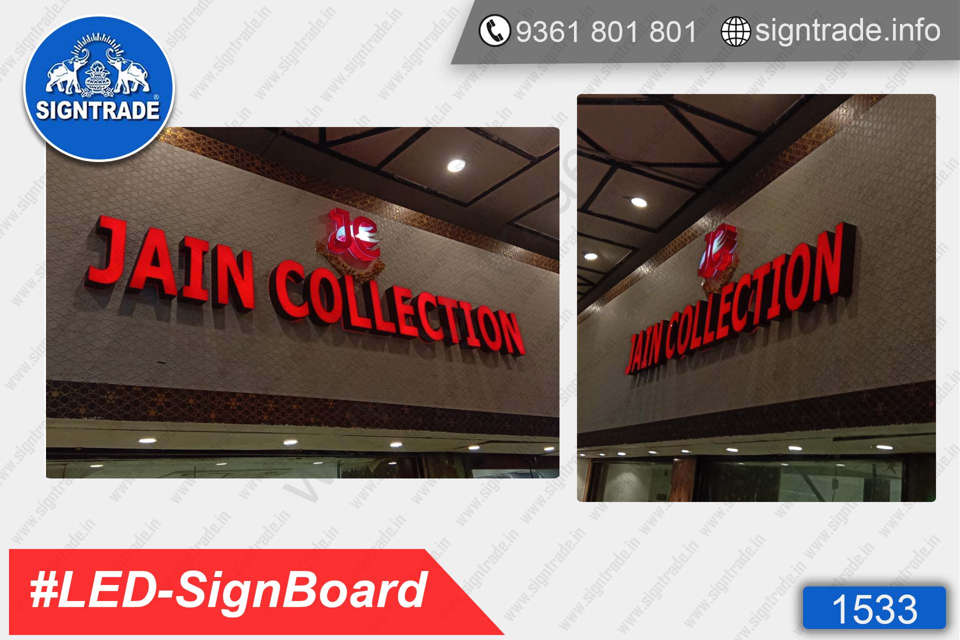 Jain Collection, T-Nagar, Chennai - SIGNTRADE - Acrylic ACP, LED Sign Board Manufacturers in Chennai