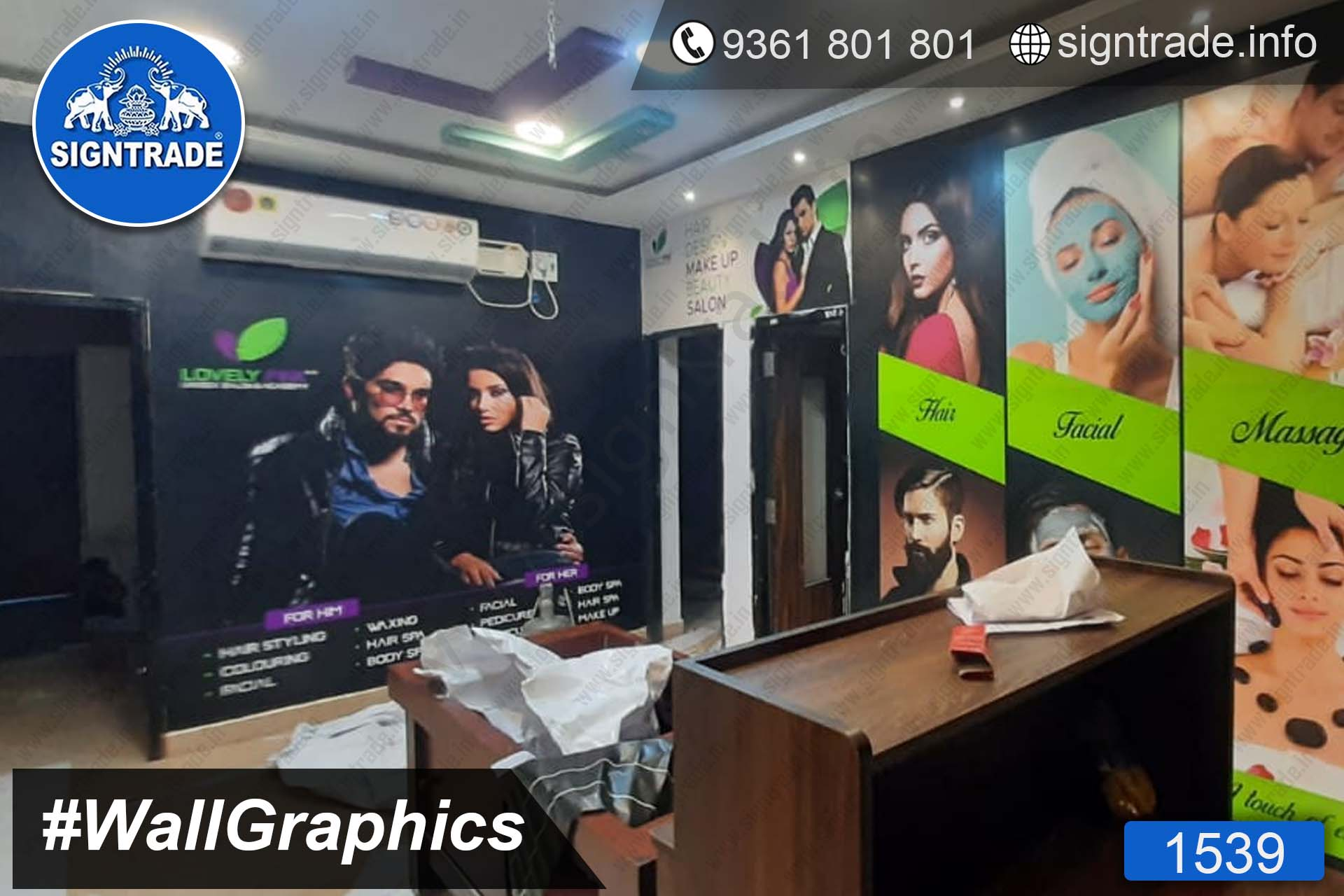 Lovely Pink Unisex Salon, Adyar, Chennai - SIGNTRADE - Wall Graphics - Vinyl Printing and Wraping Service in Chennai