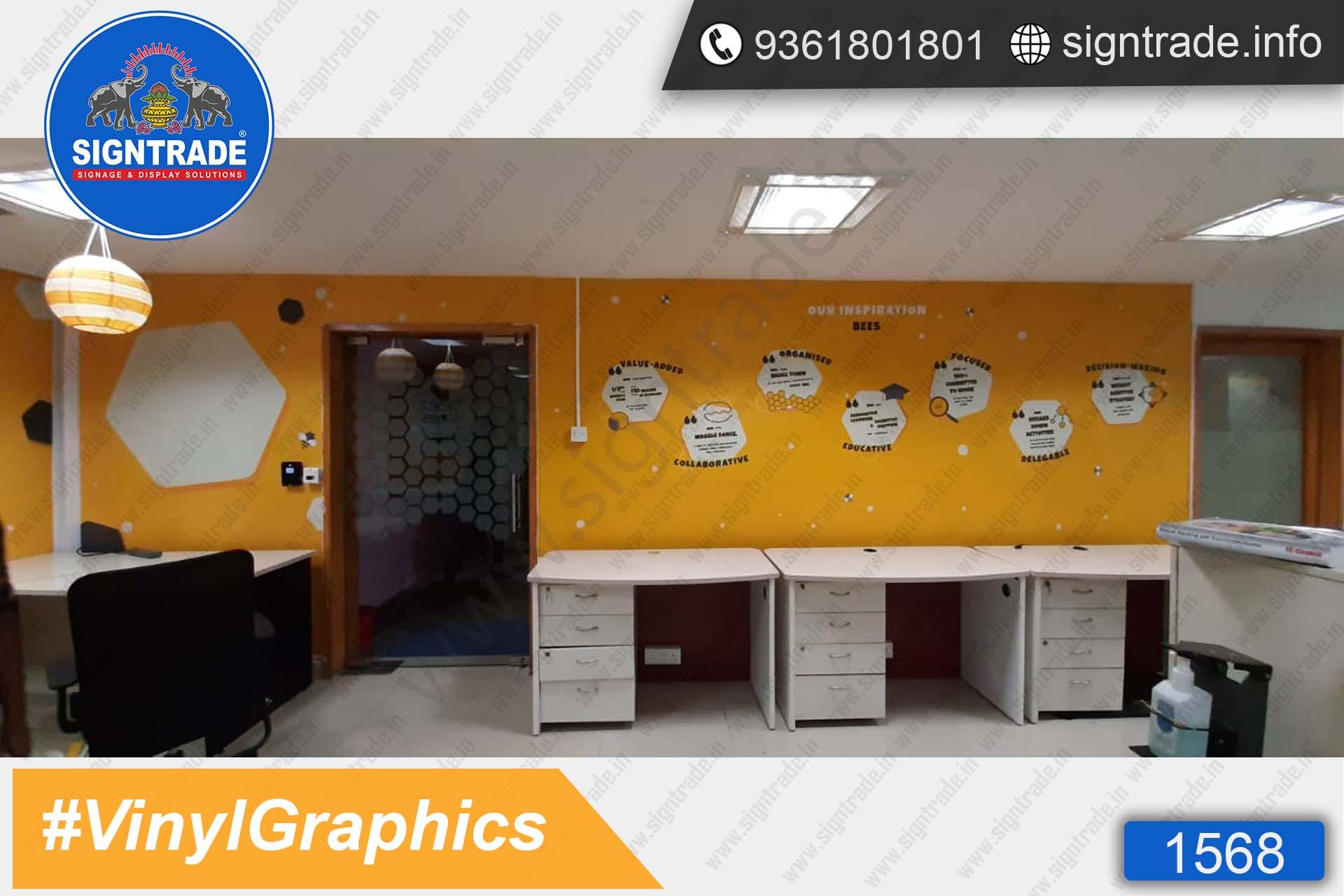 Beez labs, Chennai - SIGNTRADE - Wall Graphics, Vinyl Graphics, Vinyl Printing Service in Chennai
