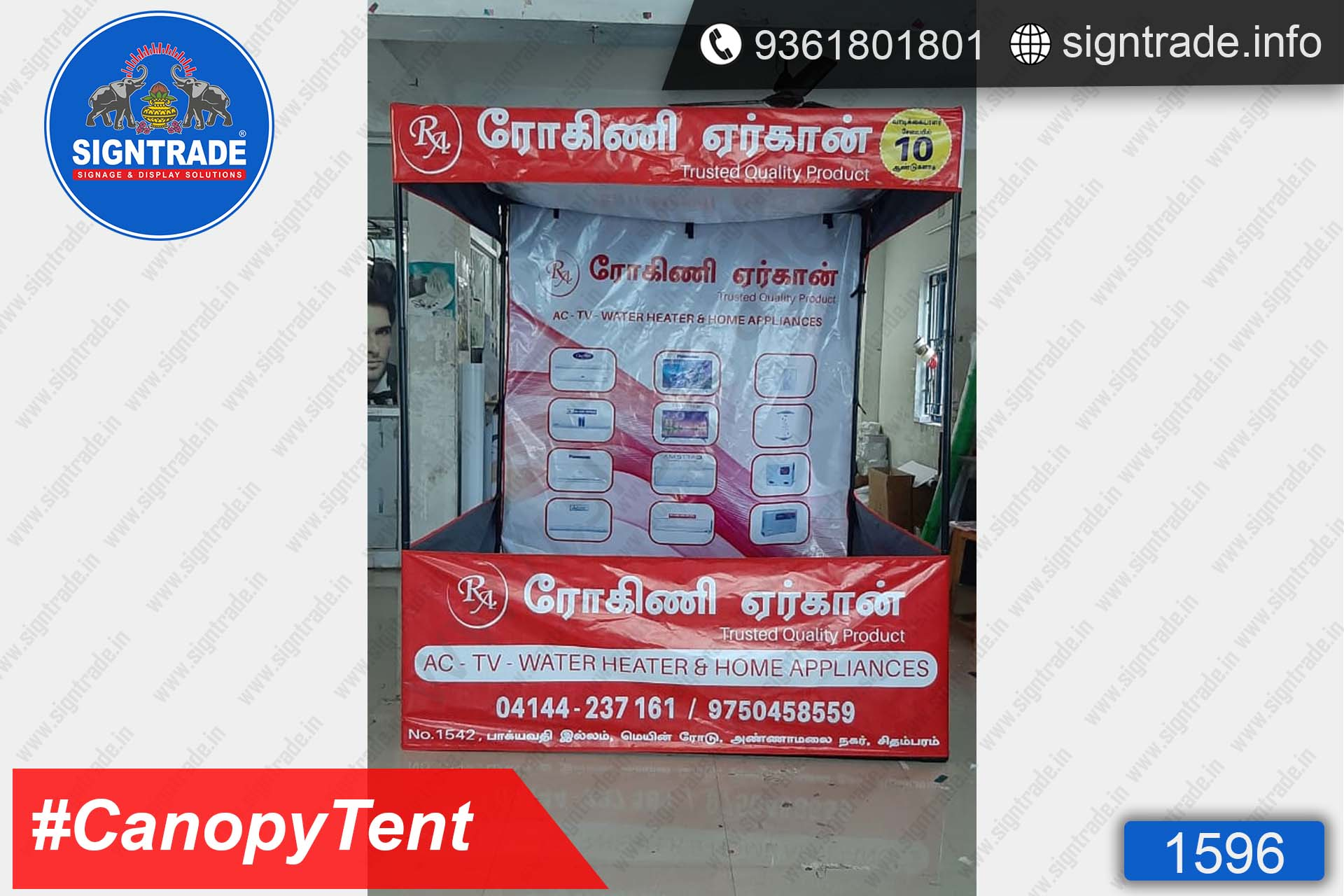 Rogini Aircon - SIGNTRADE - Canopy Tent Manufactures in Chennai
