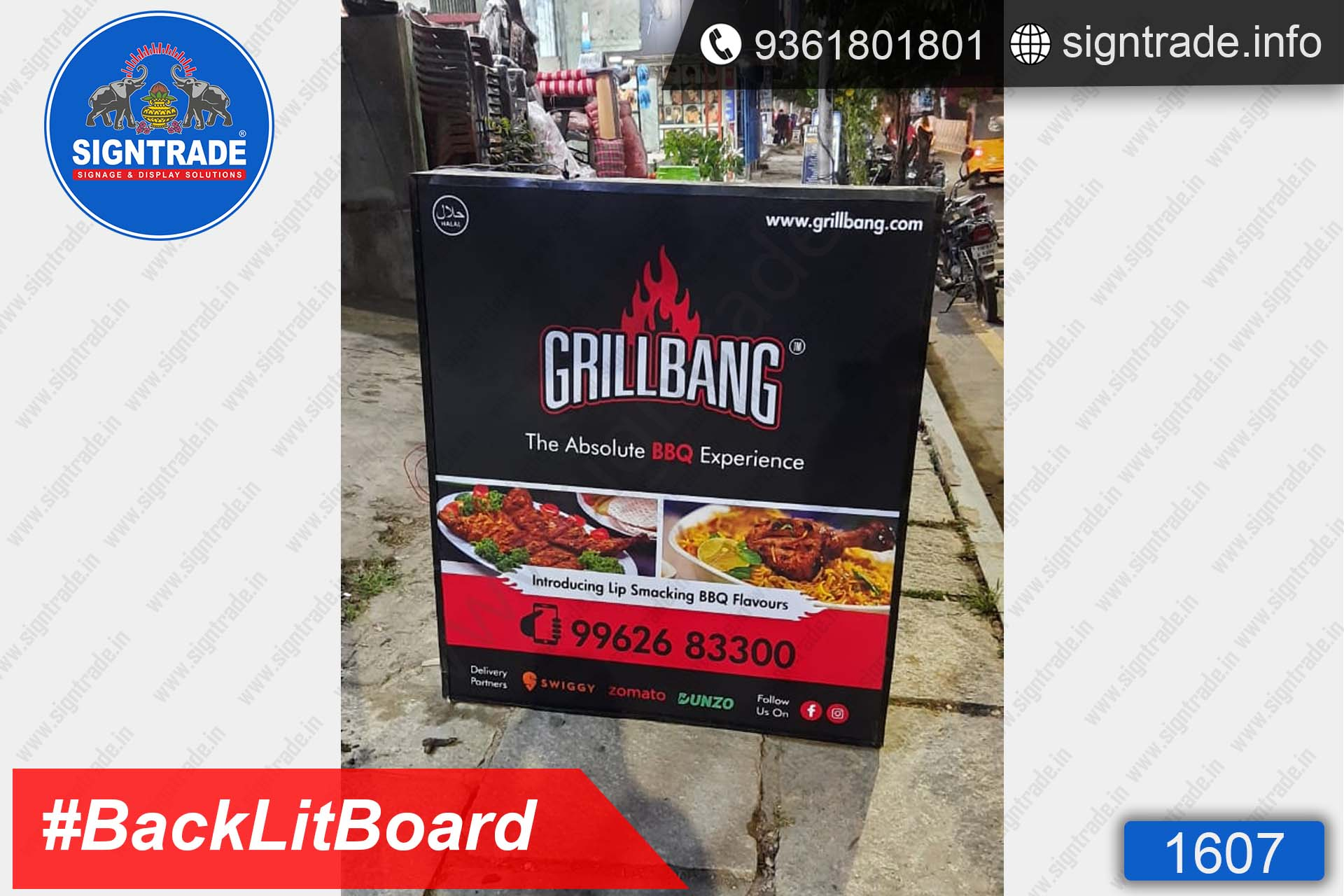 GrillBang, Madipakkam, Chennai - SIGNTRADE - Digital Flex Printing Service - Backlit Flex Board Manufacturers in Chennai