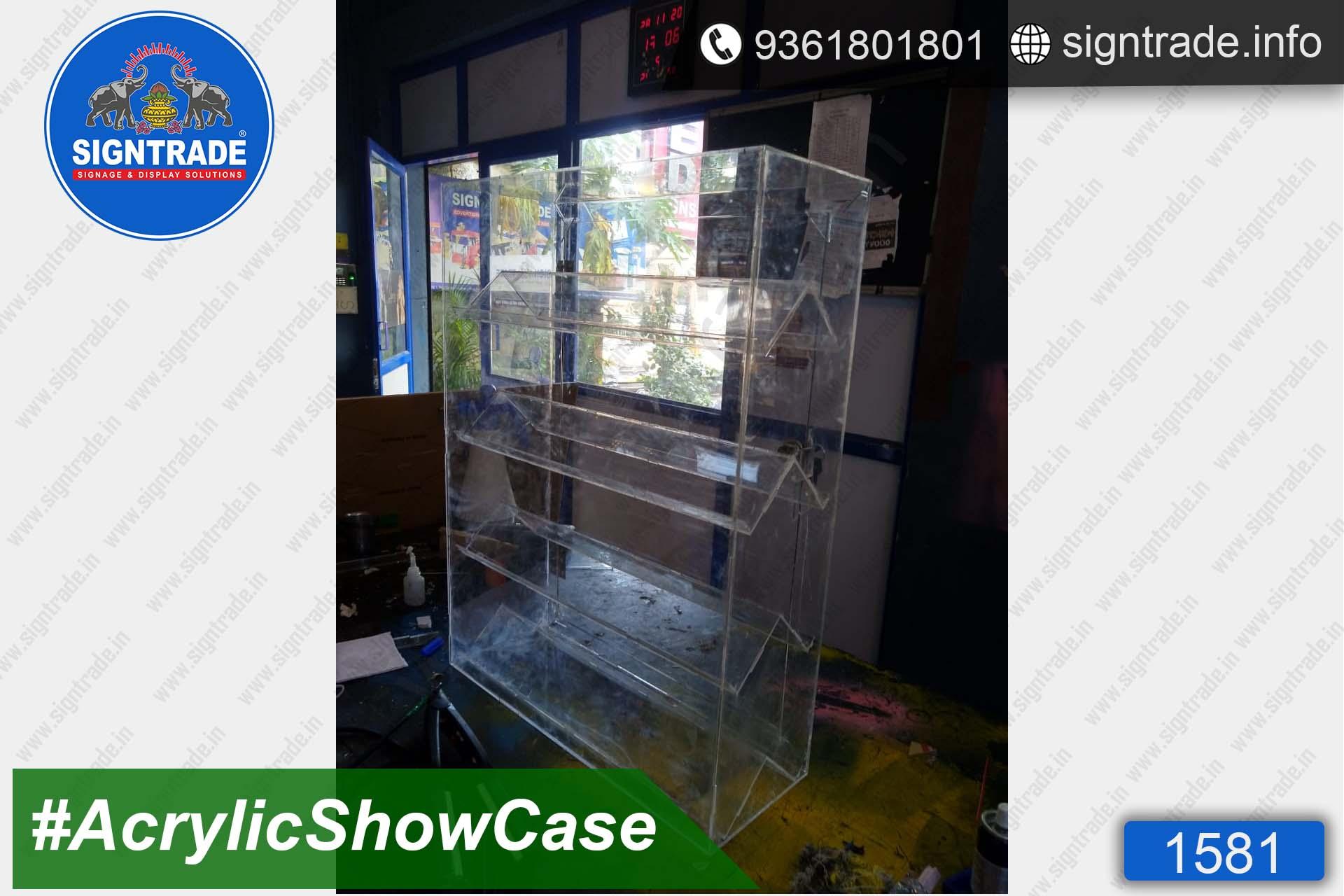 Custom Made Acrylic Showcase Manufacturers in Chennai