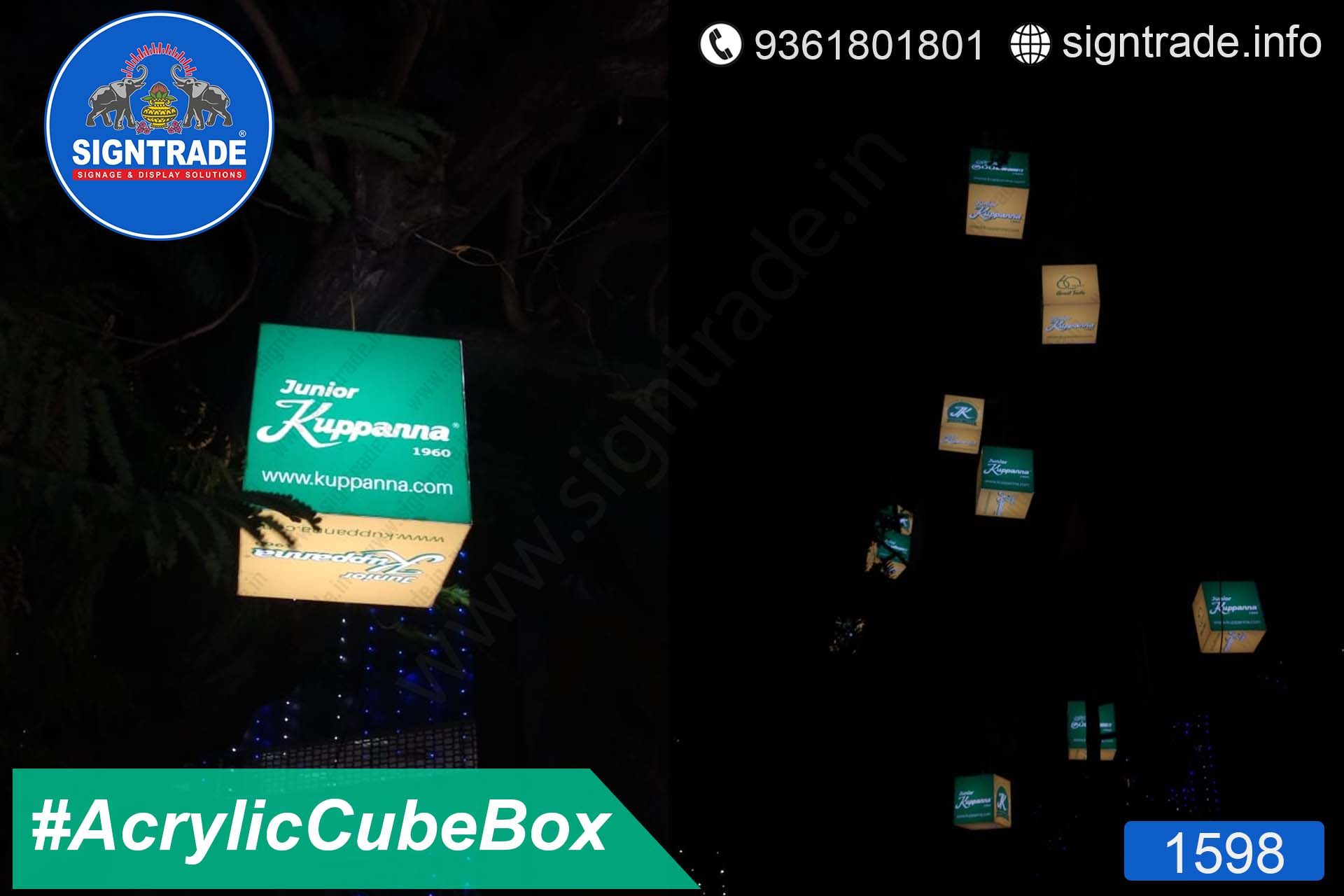 Hotel Junior Kuppanna, Chennai - SIGNTRADE - Acrylic Cube Box, LED Sign Board Manufacturers in Chennai