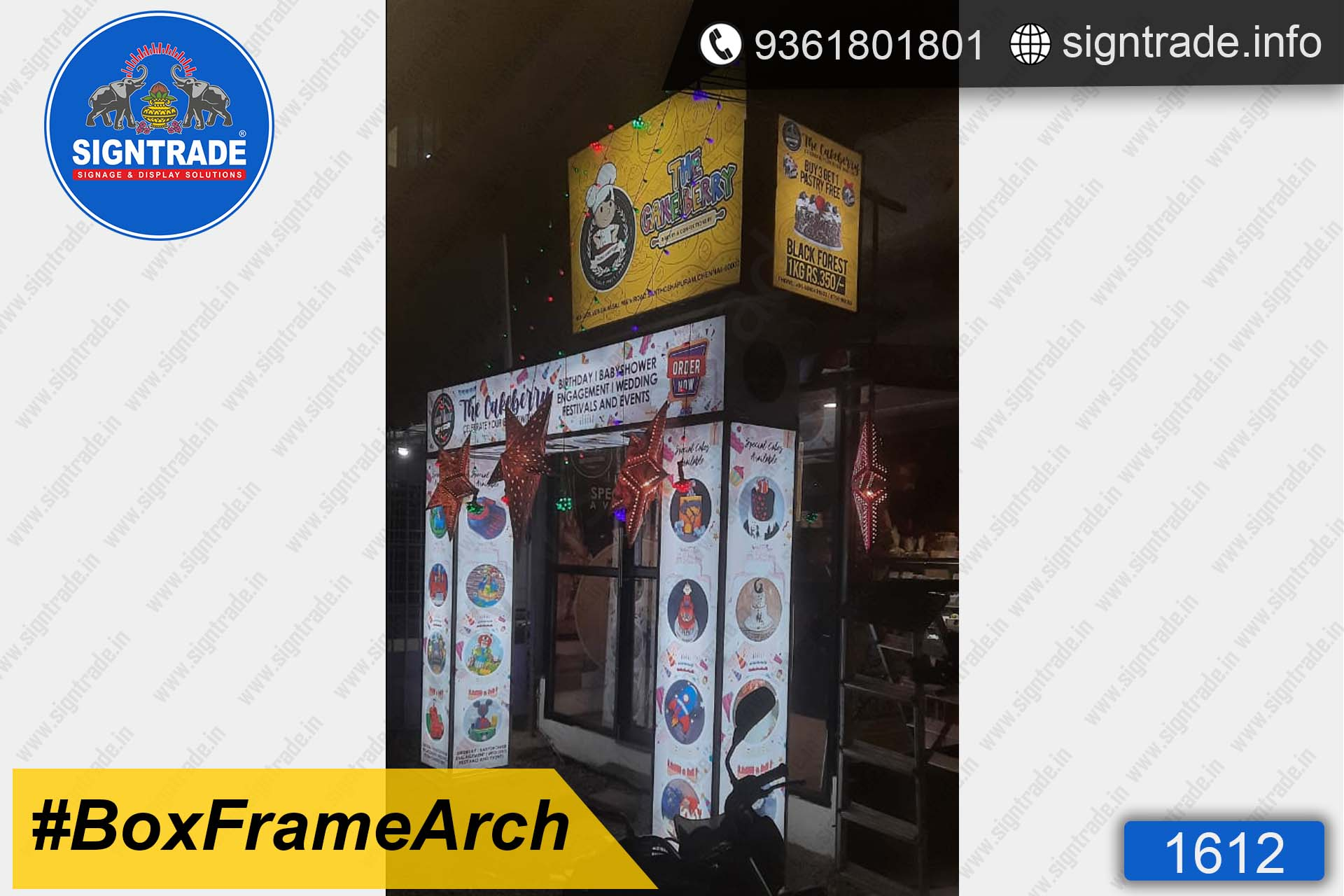 Bakery Shop - SIGNTRADE - Promotional Backlit Box Frame Arch Manufacturers in Chennai