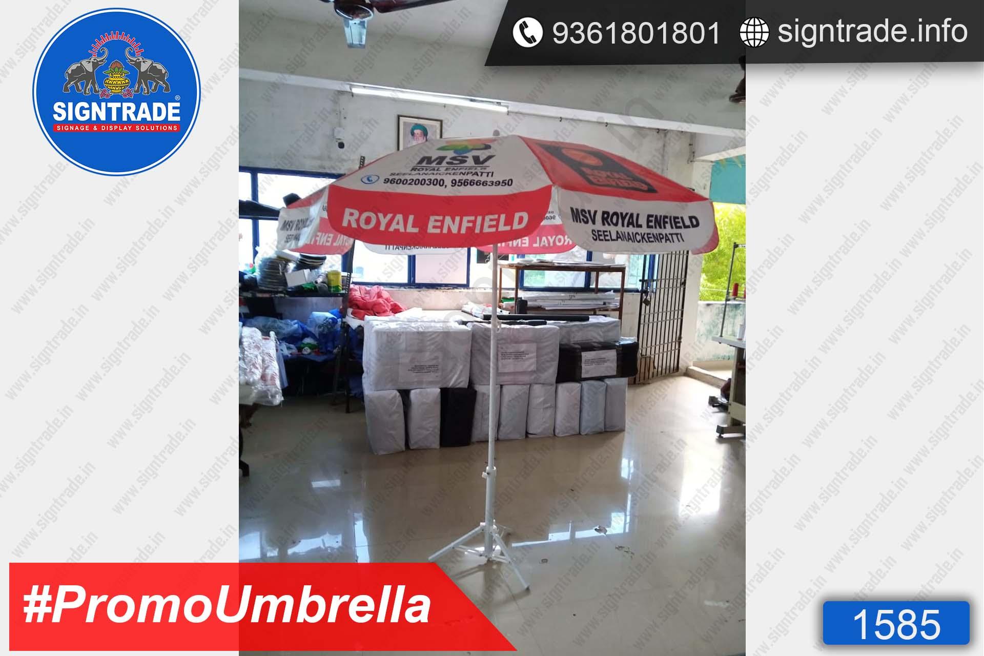 MSV Royal Enfield, Seelanaickenpatti, Chennai - SIGNTRADE - Promotional Umbrella Manufactures in Chennai
