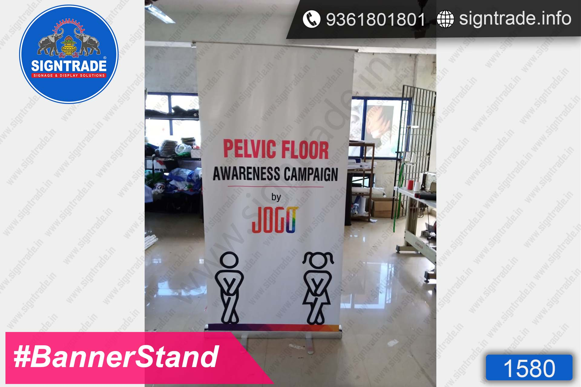 Pelvic floor awareness - SIGNTRADE - Roll Up Banner Stand Manufacturers in Chennai