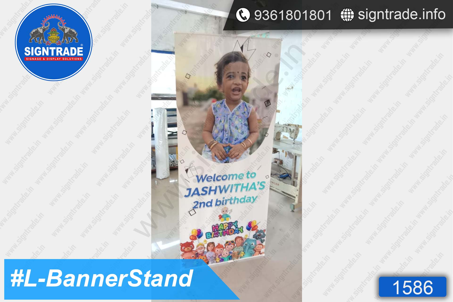 Happy Birthday - L Standee - SIGNTRADE - Banner Stand Manufacturers in Chennai