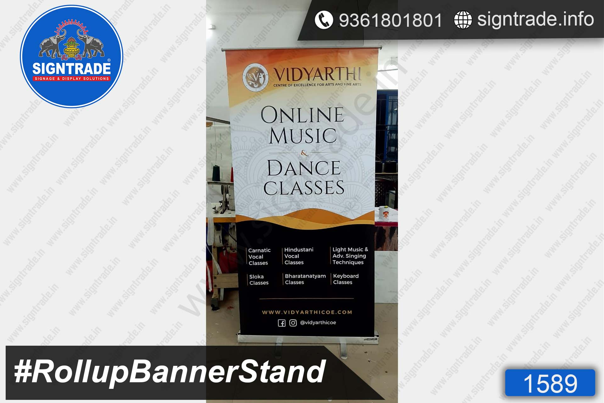 Vidyarthi Online Music & Dance Classes - SIGNTRADE - Roll Up Banner Stand Manufacturers in Chennai