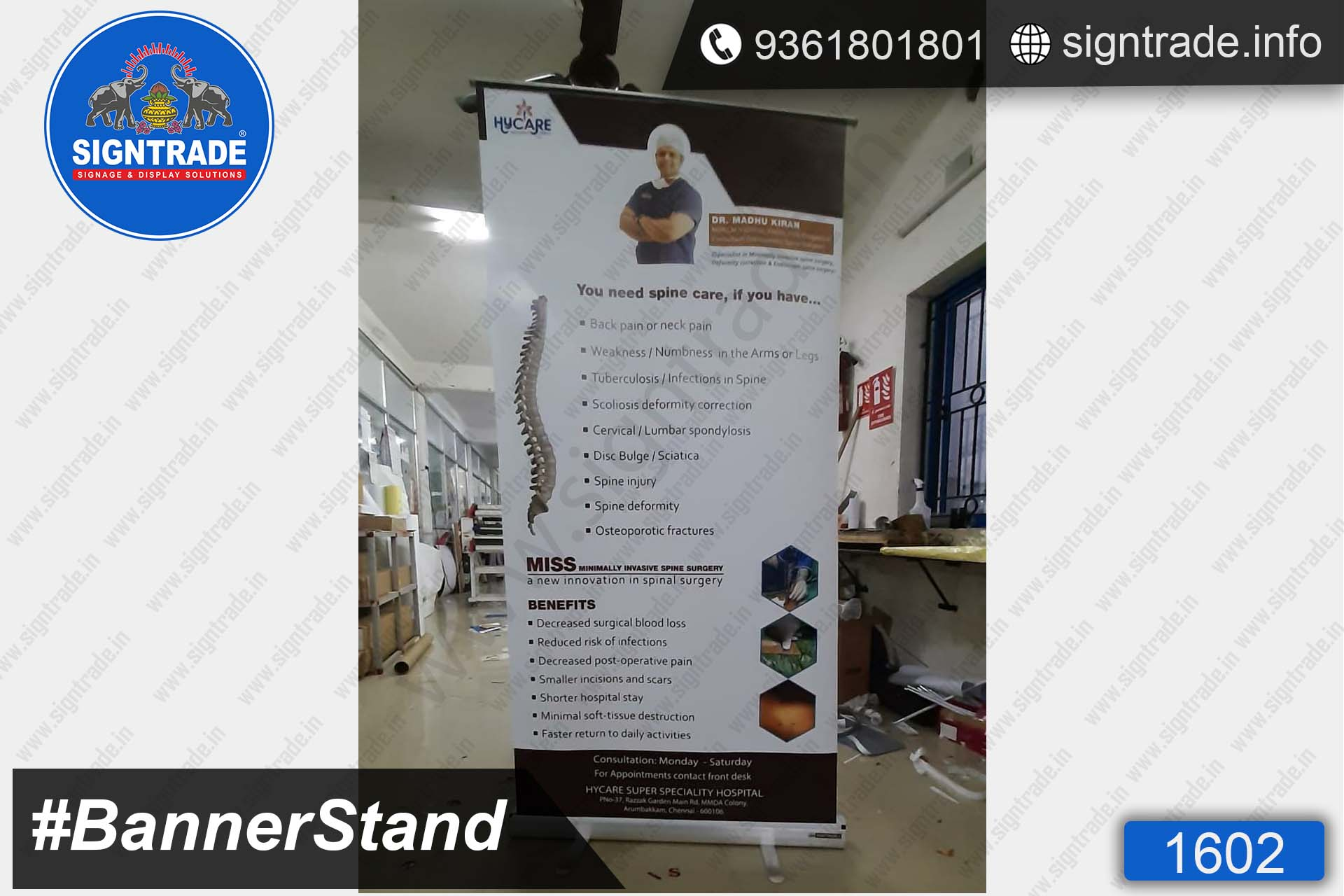 Hycare Super Speciality Hospital - Standee - SIGNTRADE - Roll Up Banner Stand Manufacturers in Chennai