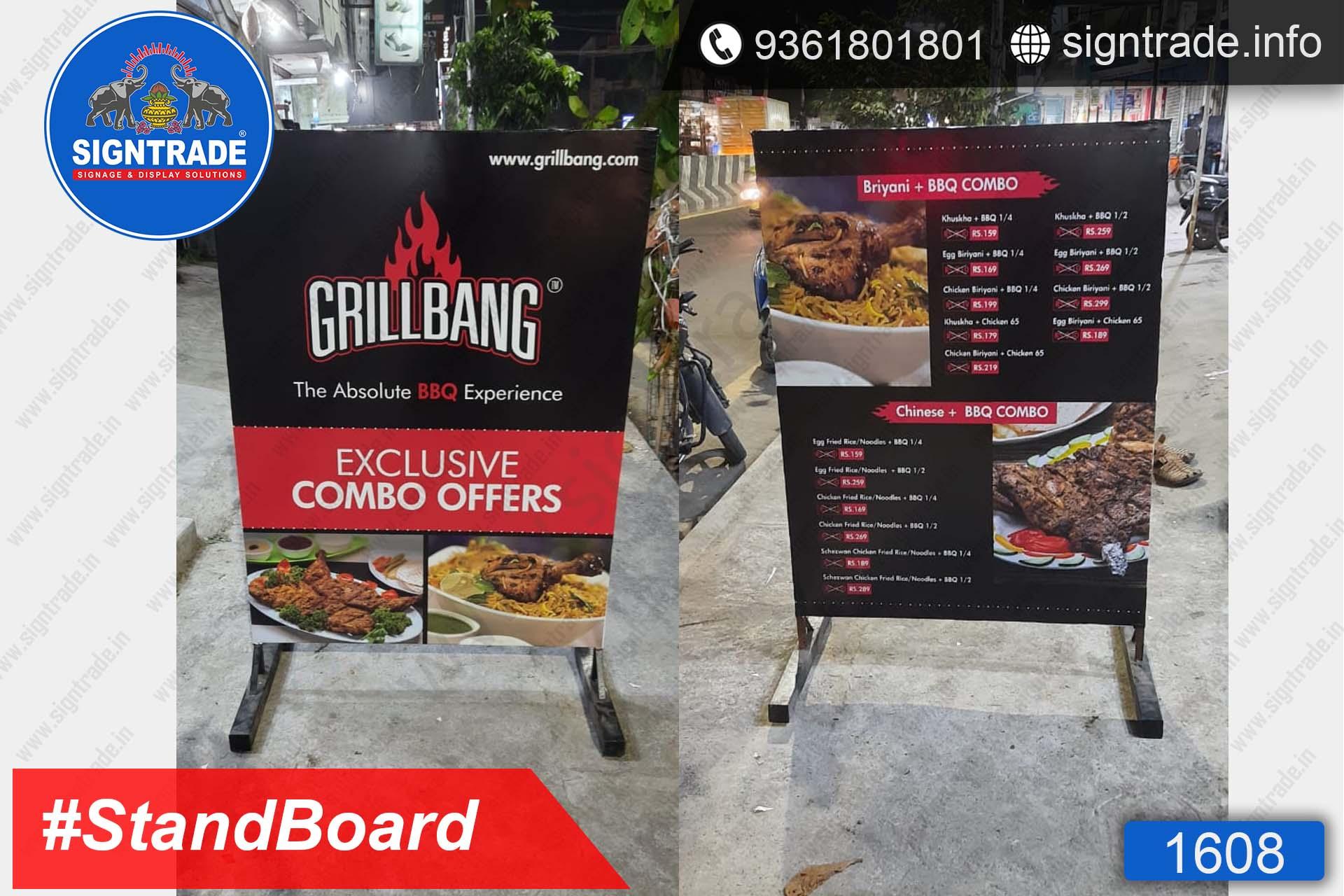 GrillBang, Madipakkam, Chennai - SIGNTRADE - Stand Up Flex Board - Digital Printing Services in Chennai