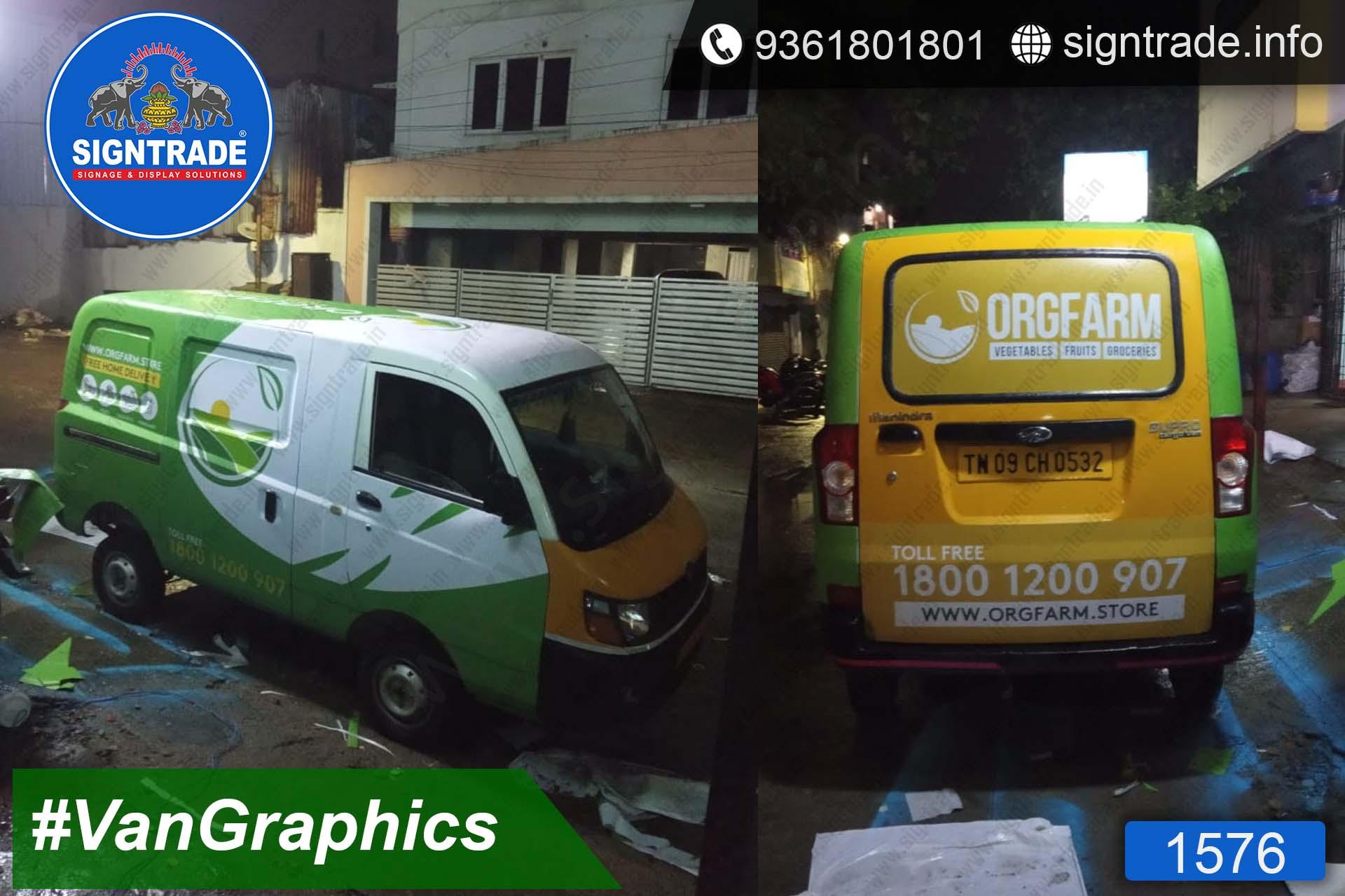 Orgfarm, Chennai - SIGNTRADE - Vinyl, Stickers, Van Graphics, Vehicle Graphics and Wraps Service Provider in Chennai