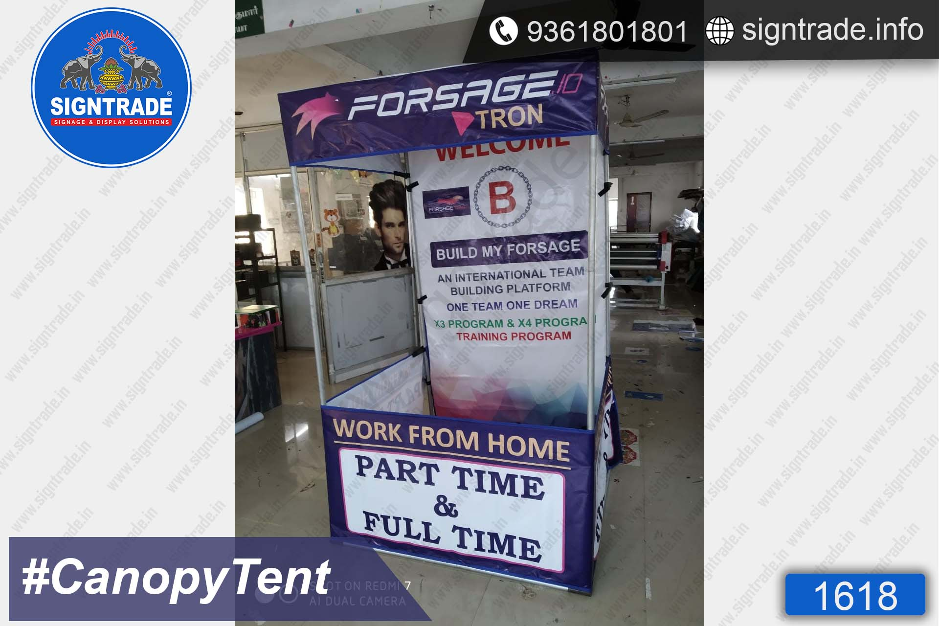 FORSAGE TRON - Flat Roof Tent - SIGNTRADE - Canopy Tent Manufactures in Chennai