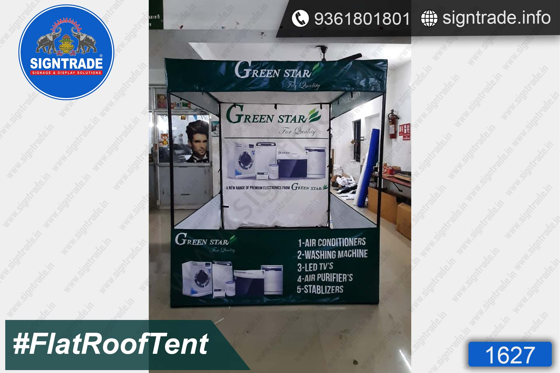 Green Star - Canopy Tent - SIGNTRADE - Promotional Canopy Tent Manufacturers in Chennai