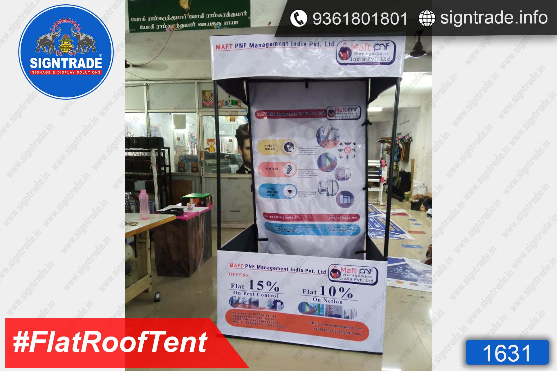 MAFT PNF Management india pvt ltd - Canopy Tent - SIGNTRADE - Promotional Canopy Tent Manufacturers in Chennai