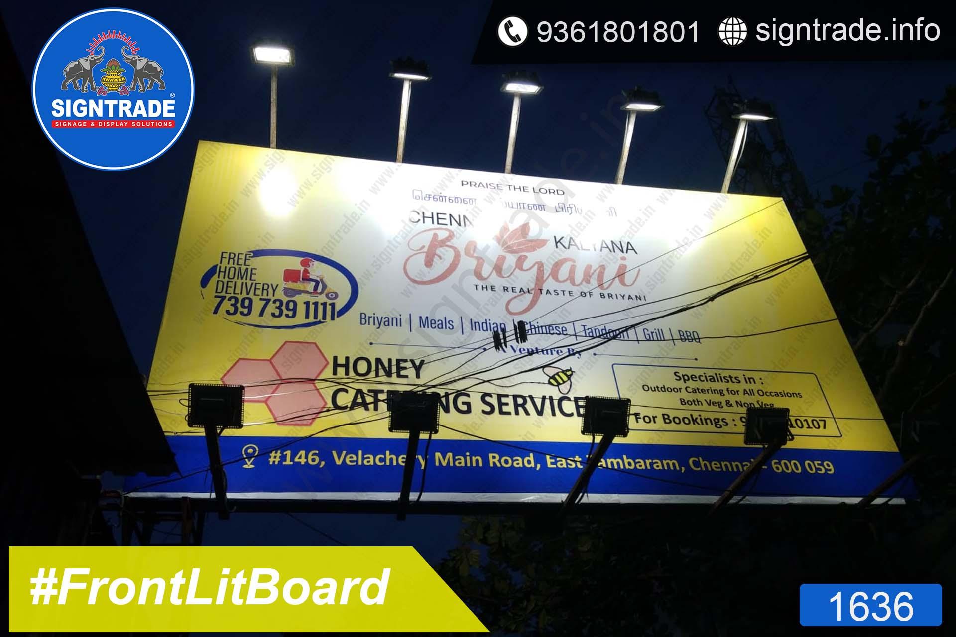 Chennai Kalyana Biriyani, Chennai - SIGNTRADE - Frontlit Board Manufacturers in Chennai