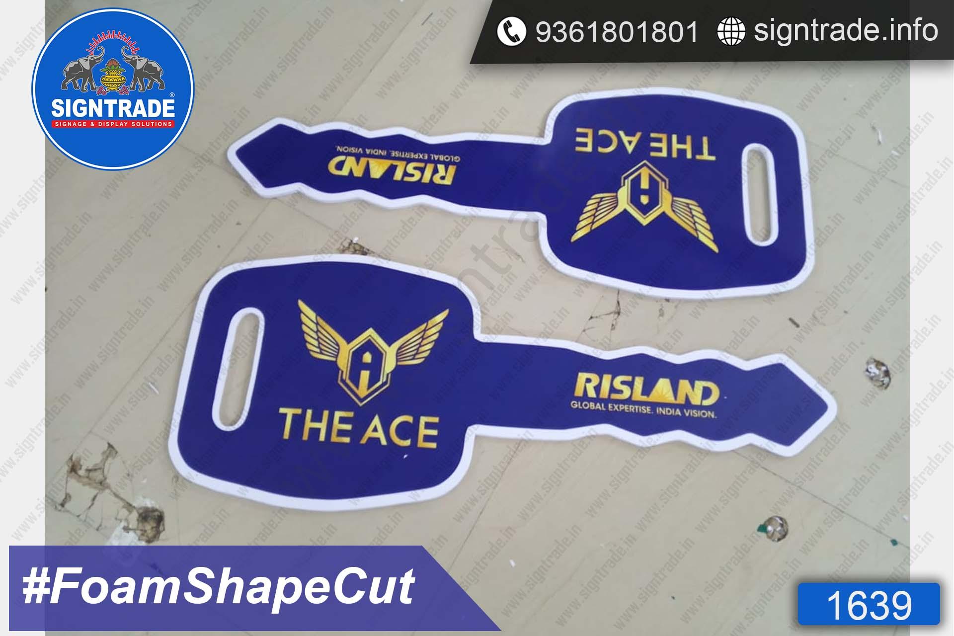 The Ace - Chennai - SIGNTRADE - Foam Board Shape Cut - Digital Printing Services in Chennai