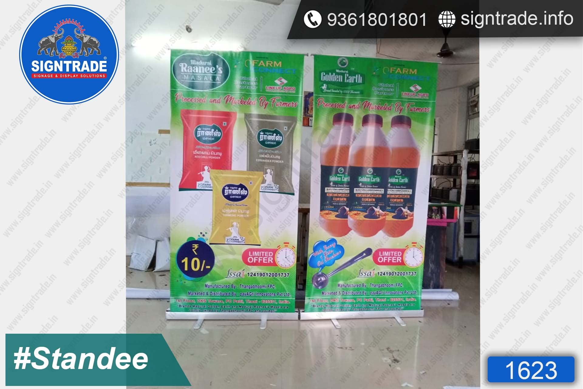 Farm Connect - Rollup Banner Stand - SIGNTRADE - Rollup Banner Stand Manufactures in Chennai