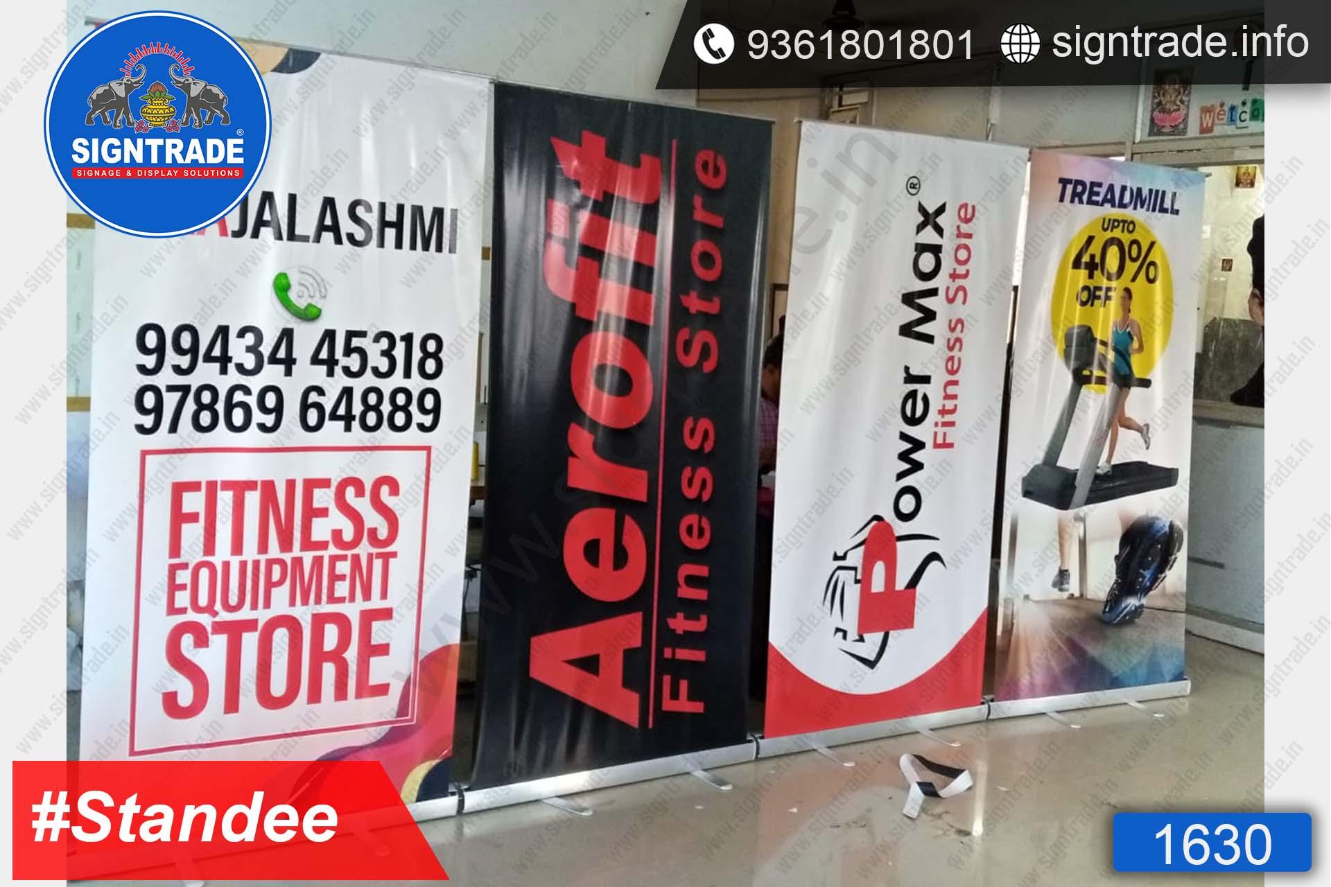 Aerofit Fitness Store, Chennai - Rollup Banner Stand - SIGNTRADE - Rollup Banner Stand Manufactures in Chennai