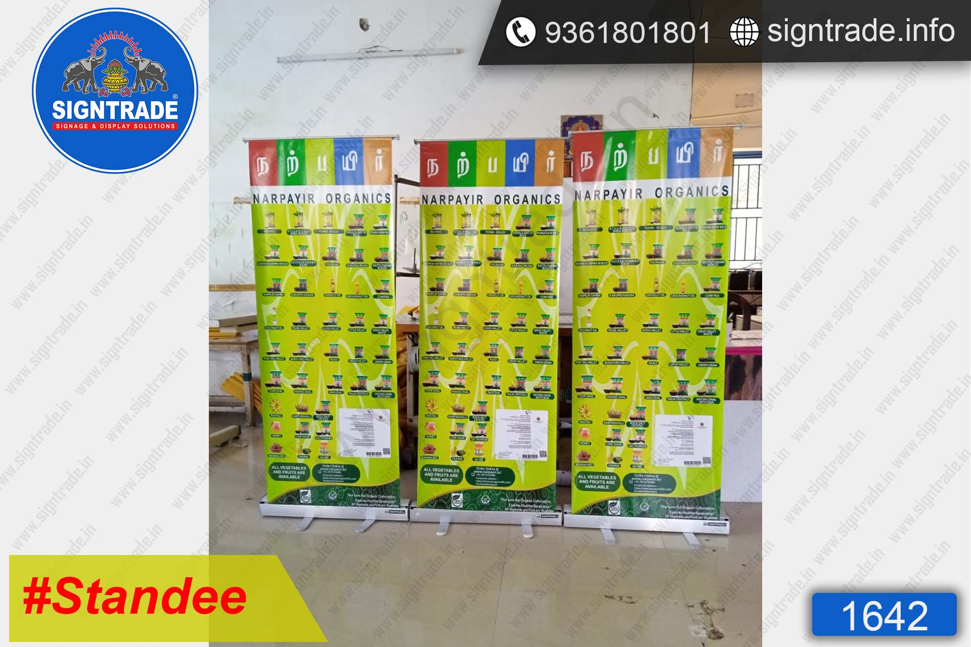 Narpayir Organics - Rollup Banner Stand - SIGNTRADE - Rollup Banner Stand Manufactures in Chennai