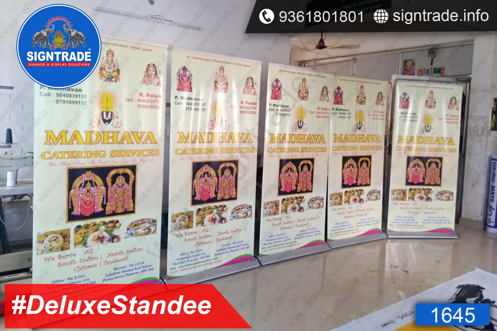 Madhava Catering Services - Rollup Banner Stand - SIGNTRADE - Deluxe Rollup Banner Stand Manufactures in Chennai