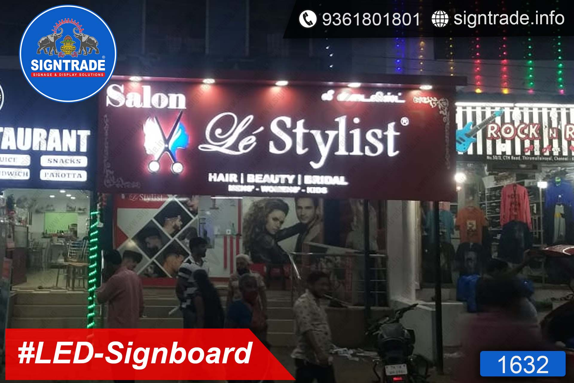 Le Stylist Salon, Chennai - SIGNTRADE - LED Sign Board Manufacturers in Chennai